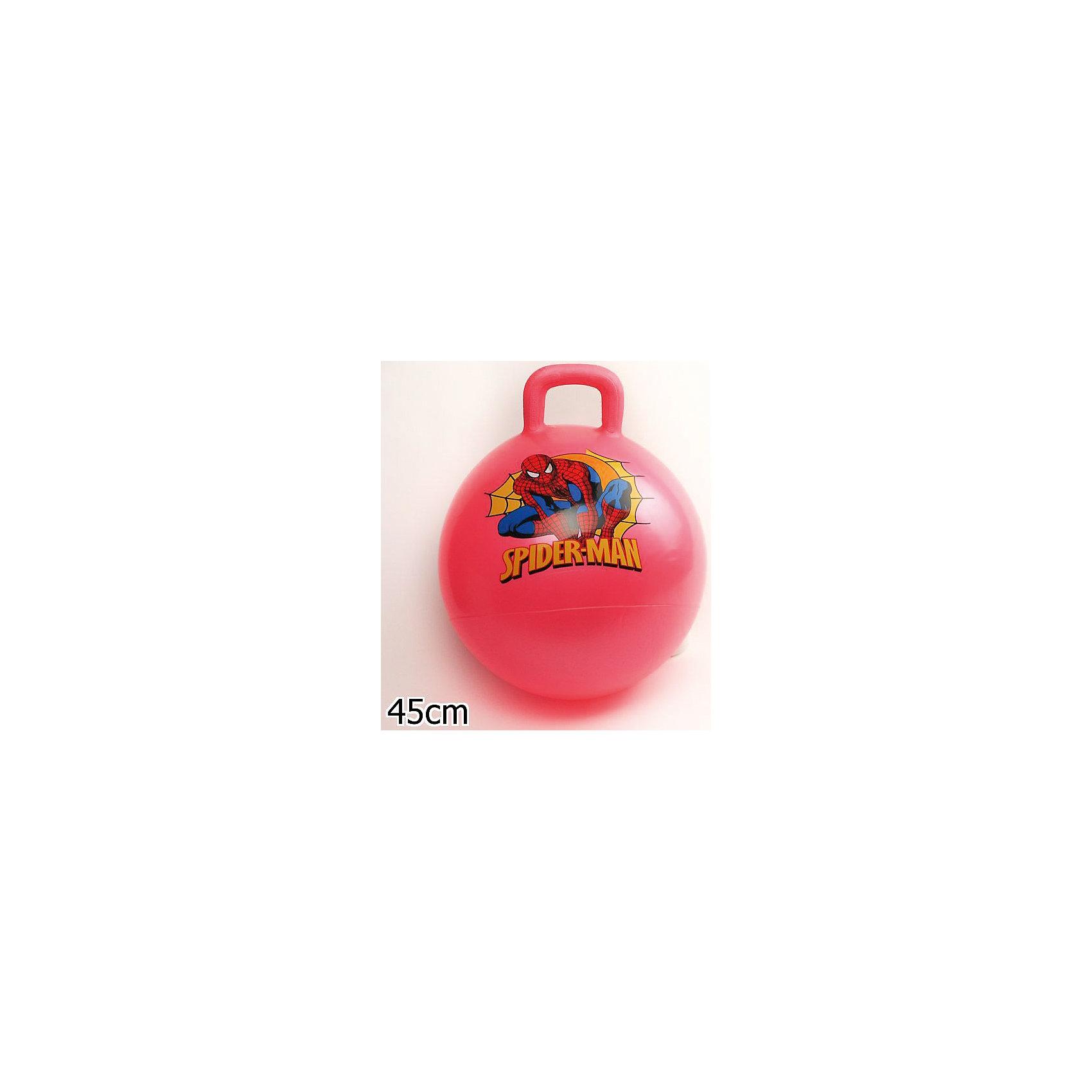 Мяч с ручкой, 45 см, Человек-Паук, Играем вместеПопулярные игрушки<br>Мяч-попрыгун с ручкой выполнен из высококачественных прочных полимерных материалов. Ребенку понравится прыгать на нем. Веселые игры с мячом не только принесут множество положительных эмоций и улыбок, но и помогут детям улучшить координацию движений, потренируют вестибулярный аппарат, укрепят мышцы ног, рук и спины.<br><br>Дополнительная информация:<br><br>- Материал: ПВХ.<br>- Размер: d - 45 см.<br>- Максимальный вес ребенка: 70 кг.  <br>- Цвет в ассортименте.<br>ВНИМАНИЕ! Данный артикул представлен в разных цветовых вариантах. К сожалению, заранее выбрать определенный вариант невозможно. При заказе нескольких мячей возможно получение одинаковых.<br><br>Мяч с ручкой, 45 см, Человек-Паук (Spider-Man), Играем вместе, в ассортименте, можно купить в нашем магазине.<br><br>Ширина мм: 380<br>Глубина мм: 500<br>Высота мм: 510<br>Вес г: 630<br>Возраст от месяцев: 36<br>Возраст до месяцев: 144<br>Пол: Мужской<br>Возраст: Детский<br>SKU: 4616850
