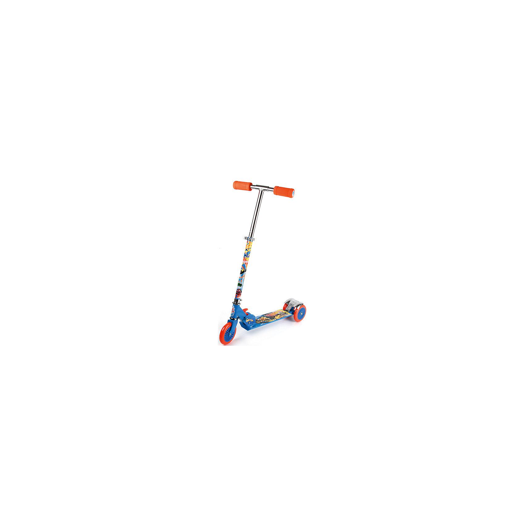 Трехколесный самокат, Hot WheelsСамокаты<br>Характеристики товара:<br><br>• материал: металл, полимер<br>• цвет: синий<br>• диаметр колес: 120 мм<br>• складной<br>• удобный руль <br>• высота руля регулируется<br>• максимальный вес: 50 кг<br>• удобная платформа<br>• небольшой вес<br>• надежные материалы<br>• продуманная конструкция<br>• стильный дизайн<br>• возраст: от 3 лет<br>• размер платформы: 34х9,4 см<br>• высота руля: до 120 см<br><br>Подарить ребенку такой самокат - значит, помочь его развитию! Самокат способствует скорейшему развитию способности ориентироваться в пространстве, развивает физические способности, мышление и ловкость. Помимо этого, кататься на нём - очень увлекательное занятие!<br><br>Этот самокат выделяется устойчивой конструкцией и удобной платформой. Данная модель выполнена в стильном дизайне, отличается продуманным складным механизмом. Благодаря небольшому весу и компактному размеру такой самокат легко возить с собой. Отличный подарок для активного ребенка!<br><br>Трехколесный самокат, Hot Wheels, от бренда Next можно купить в нашем интернет-магазине.<br><br>Ширина мм: 630<br>Глубина мм: 410<br>Высота мм: 440<br>Вес г: 2870<br>Возраст от месяцев: 36<br>Возраст до месяцев: 144<br>Пол: Мужской<br>Возраст: Детский<br>SKU: 4616880