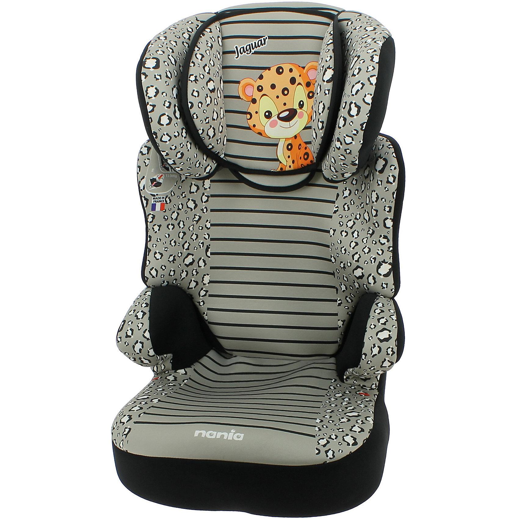 Автокресло Nania Befix SP, 15-36 кг, jaguarГруппа 2-3 (От 15 до 36 кг)<br>Характеристики автокресла Nania Befix SP:<br><br>• группа 2-3;<br>• вес ребенка: 15-36 кг;<br>• возраст ребенка: от 3 до 12 лет;<br>• способ установки: по ходу движения автомобиля;<br>• способ крепления: штатными ремнями безопасности автомобиля;<br>• регулируемая высота подголовника: 6 положений;<br>• дополнительная защита от боковых ударов, система SP – Side Protection;<br>• подлокотники, широкие боковинки, дополнительная подушечка;<br>• возможность использовать автокресло как бустер – спинка снимается;<br>• съемные чехлы, стирка при температуре 30 градусов;<br>• материал: пластик, полиэстер;<br>• стандарт безопасности: ECE R44/04.<br><br>Размер автокресла: 45х45х72/88 см<br>Размер сиденья: 34х30 см<br>Высота спинки: 64-75 см<br>Вес автокресла: 4,7 кг<br><br>Безопасно путешествовать с ребенком на автомобиле позволяет автокресло. Для детей от 3 до 12 лет используется автокресло Nania Befix SP. Брендовое оформление, соответствие стандартам качества, дополнительные элементы для комфортного пребывания ребенка в автокресле. <br><br>Автокресло Befix SP, 15-36 кг., Nania, jaguar можно купить в нашем интернет-магазине.<br><br>Ширина мм: 710<br>Глубина мм: 450<br>Высота мм: 500<br>Вес г: 8780<br>Возраст от месяцев: 36<br>Возраст до месяцев: 144<br>Пол: Унисекс<br>Возраст: Детский<br>SKU: 4618059