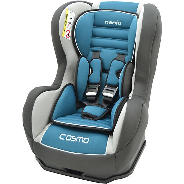 Автокресло Nania Cosmo SP LX 0-18 кг, agora petroleГруппа 0-1 (до 18 кг)<br>Автокресло Cosmo SP LX, 0-18 кг., Nania, agora petrole - комфортная надежная модель, которая сделает поездку ребенка приятной и безопасной.<br>Автокресло Cosmo SP LX от Nania (Нания) разработано на основе требований безопасности, а также ортопедических факторов: мягкие обивка, анатомическая форма обеспечивает комфорт даже в дальних поездках. Серия Luxe отличается улучшенными более мягкими чехлами и наличием двух мягких съемных вкладышей под голову и тельце для удобства новорожденных. Наклон спинки можно регулировать в 3 положениях. Кресло оснащено регулируемыми 5-точечными ремнями безопасности с мягкими плечевыми накладками и удобной системой натяжения. Ремни снабжены системой звукового оповещения. Если замок не закрыт должным образом или ребенок самостоятельно расстегнется во время движения, прозвучит предупреждающий звуковой сигнал. Система боковой защиты SP - Side Protection убережёт ребёнка от серьезных травм. Новая система крепления автокресла облегчает его установку в автомобиль. Устанавливается в автомобилях с помощью штатных 3-х точечных ремней безопасности, как на заднем, так и на переднем сидении, в последнем случае подушка безопасности должна быть отключена. Предусмотрено надежное крепление к автомобильному сиденью по ходу движения автомобиля (ремень автомобиля проходит между основой и корпусом автокресла). Кресло изготовлено из высококачественных материалов, тканевые чехлы снимаются для чистки или стирки. Соответствует Европейскому Стандарту Безопасности ECE R44/03.<br><br>Дополнительная информация:<br><br>- Рассчитано на детей от рождения до 3-4 лет, весом 0-18 кг.<br>- Материал: высококачественный ударопрочный пластик, полиэстер<br>- Цвет: голубой<br>- Установка: против хода движения (для ребенка весом до 9 кг), по ходу движения (для ребенка весом от 9 до 18 кг)<br>- Размер сиденья: 33х31 см.<br>- Высота спинки: 55 см.<br>- Размер кресла: 54х45х61 см.<br>- Вес: 5,7 кг.<br>- Воз