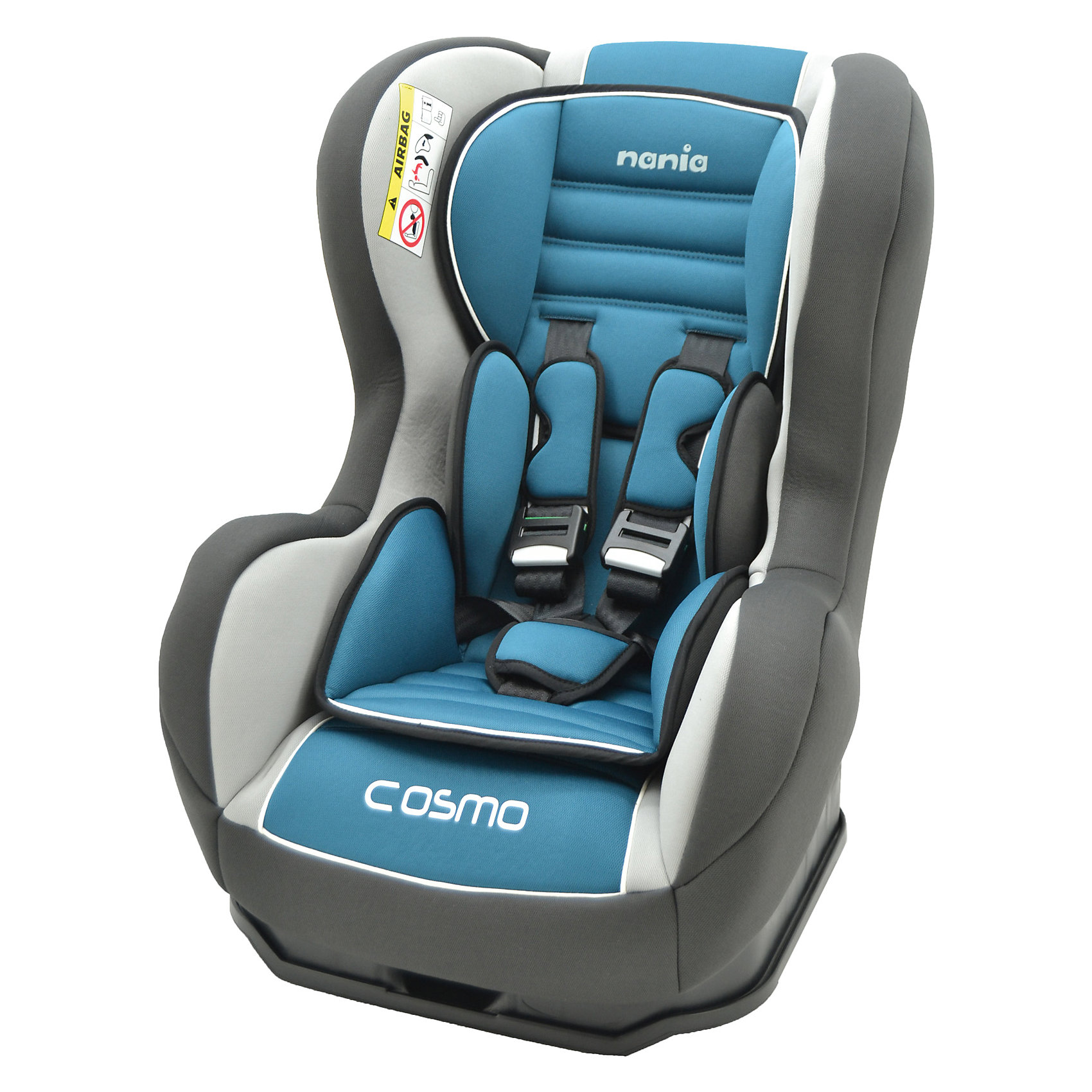 Автокресло Cosmo SP LX, 0-18 кг., Nania, agora petroleАвтокресло Cosmo SP LX, 0-18 кг., Nania, agora petrole - комфортная надежная модель, которая сделает поездку ребенка приятной и безопасной.<br>Автокресло Cosmo SP LX от Nania (Нания) разработано на основе требований безопасности, а также ортопедических факторов: мягкие обивка, анатомическая форма обеспечивает комфорт даже в дальних поездках. Серия Luxe отличается улучшенными более мягкими чехлами и наличием двух мягких съемных вкладышей под голову и тельце для удобства новорожденных. Наклон спинки можно регулировать в 3 положениях. Кресло оснащено регулируемыми 5-точечными ремнями безопасности с мягкими плечевыми накладками и удобной системой натяжения. Ремни снабжены системой звукового оповещения. Если замок не закрыт должным образом или ребенок самостоятельно расстегнется во время движения, прозвучит предупреждающий звуковой сигнал. Система боковой защиты SP - Side Protection убережёт ребёнка от серьезных травм. Новая система крепления автокресла облегчает его установку в автомобиль. Устанавливается в автомобилях с помощью штатных 3-х точечных ремней безопасности, как на заднем, так и на переднем сидении, в последнем случае подушка безопасности должна быть отключена. Предусмотрено надежное крепление к автомобильному сиденью по ходу движения автомобиля (ремень автомобиля проходит между основой и корпусом автокресла). Кресло изготовлено из высококачественных материалов, тканевые чехлы снимаются для чистки или стирки. Соответствует Европейскому Стандарту Безопасности ECE R44/03.<br><br>Дополнительная информация:<br><br>- Рассчитано на детей от рождения до 3-4 лет, весом 0-18 кг.<br>- Материал: высококачественный ударопрочный пластик, полиэстер<br>- Цвет: голубой<br>- Установка: против хода движения (для ребенка весом до 9 кг), по ходу движения (для ребенка весом от 9 до 18 кг)<br>- Размер сиденья: 33х31 см.<br>- Высота спинки: 55 см.<br>- Размер кресла: 54х45х61 см.<br>- Вес: 5,7 кг.<br>- Возможна ручная стирка тк