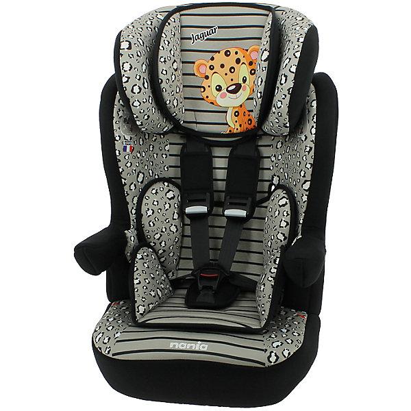 Автокресло Nania Imax SP 9-36 кг, jaguarГруппа 1-2-3  (от 9 до 36 кг)<br>Автокресло Imax SP, 9-36 кг., Nania, jaguar - это комфортная и безопасная модель для перевозки детей от 8 месяцев до 12 лет.<br>Автокресло Imax SP является одним из лидеров по безопасности в своем классе. Высокий уровень которой, достигнут благодаря цельному литому корпусу и продуманной конструкции. Это подтверждено краш-тестами, проведенными в собственной лаборатории производителя, компании TEAM TEX. Автокресло разработано с учетом ортопедических факторов: мягкая обивка, анатомическая форма, широкое сидение наличием двух мягких съемных вкладышей районе головы и таза обеспечивает комфорт даже во время длительных путешествий. Подголовник можно отрегулировать по высоте, таким образом, кресло оптимально адаптируется к росту ребенка. Автокресло Imax SP имеет удобные подлокотники, которые при необходимости можно поднять вверх. Система боковой защиты Side Protection (SP) обеспечивает необходимую безопасность даже при боковом столкновении. 5-ти точечные ремни безопасности можно регулировать не только по длине и высоте, но и снять совсем, когда ребенок подрастет. Автокресло крепится в машине штатными трехточечными ремнями безопасности по ходу движения автомобиля. Приятной особенностью этого автокресла является его яркий интересный дизайн – принт в виде пятнистой окраски и изображение милого маленького леопарда на подголовнике. Соответствует стандартам ECE R44/04.<br><br>Дополнительная информация:<br><br>- Группа 1-2-3 (9-36 кг), от 8 месяцев до 12 лет<br>- 6 уровней высоты подголовника<br>- Материал: ударопрочный пластик, 100% полиэстер<br>- Цвет: серый<br>- Внешние размеры: 45 x 45 x 72-88 см.<br>- Размеры сиденья: 32 x 40 см.<br>- Высота спинки: 64-75 см.<br>- Вес: 4,7 кг.<br>- Обивка легко снимается для чистки, её можно стирать при температуре не выше 30°C<br><br>Автокресло Imax SP, 9-36 кг., Nania, jaguar можно купить в нашем интернет-магазине.<br>Ширина мм: 500; Глубина мм: 450; Высота мм: 710; Ве