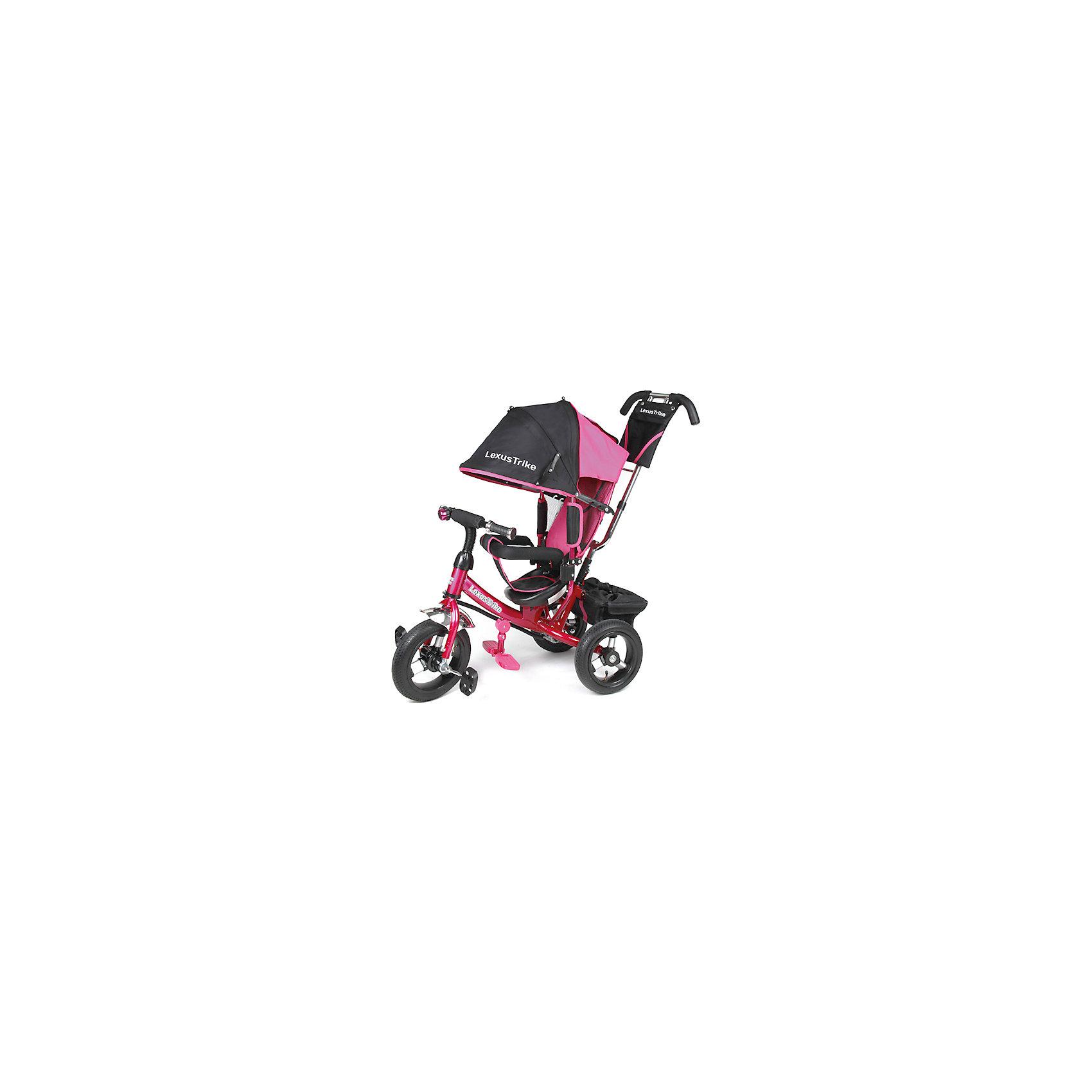 Трехколесный велосипед, с надувными колесами, розовый,  Super Trike