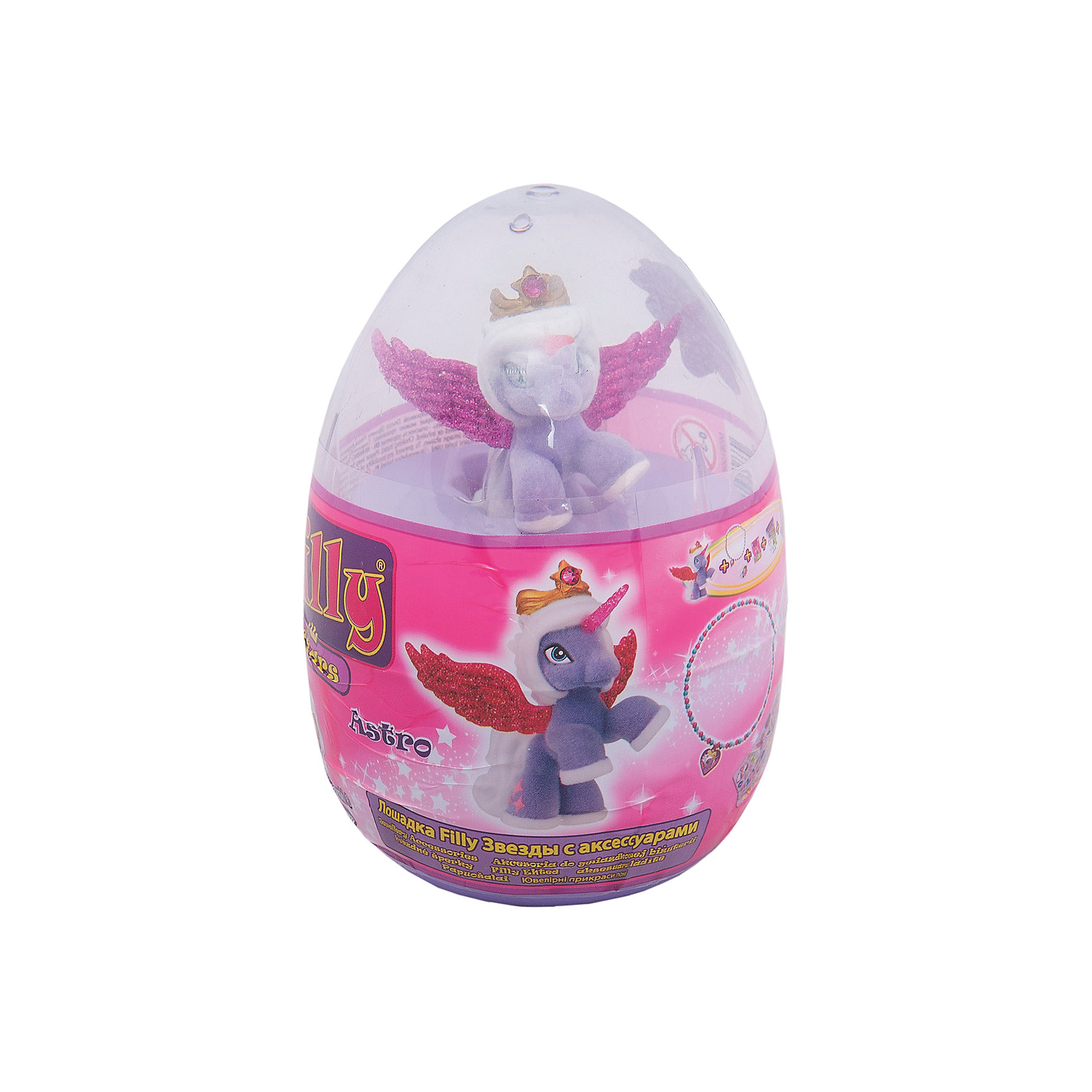 Набор Filly Звезды Hermia, в яйце, DraccoКоллекционные и игровые фигурки<br>Новые лошадки Филли в необычной упаковке. В этом стильном прозрачном яйце очень удобно хранить и переносить любимые фигурки. <br>Главным отличием фигурок из серии Звезды являются крылья. Они приобрели иную более привлекательную форму, а также дизайн. Благодаря новым расцветками они блестят еще ярче.<br><br>Дополнительная информация:<br><br>В данный набор входит одна фигурка лошадки, два аксессуара, брошюра коллекционера, а также 4 листа с тематическими наклейками.<br>В новую линейку вошли 22 новых персонажей + 1 новый редкий герой. Все они принадлежат к 5 новым семействам лошадок. Среди них Семейство звездного света, Семейство небесного света, Семейство солнечного света и семейство сумеречного света. Персонажи из последнего пятого семейства (Семейство лунного света) появятся в продаже этой осенью.<br><br>Набор Filly Звезды Hermia, в яйце, Dracco   можно купить в нашем магазине.<br><br>Ширина мм: 45<br>Глубина мм: 180<br>Высота мм: 170<br>Вес г: 120<br>Возраст от месяцев: 36<br>Возраст до месяцев: 96<br>Пол: Женский<br>Возраст: Детский<br>SKU: 4618240