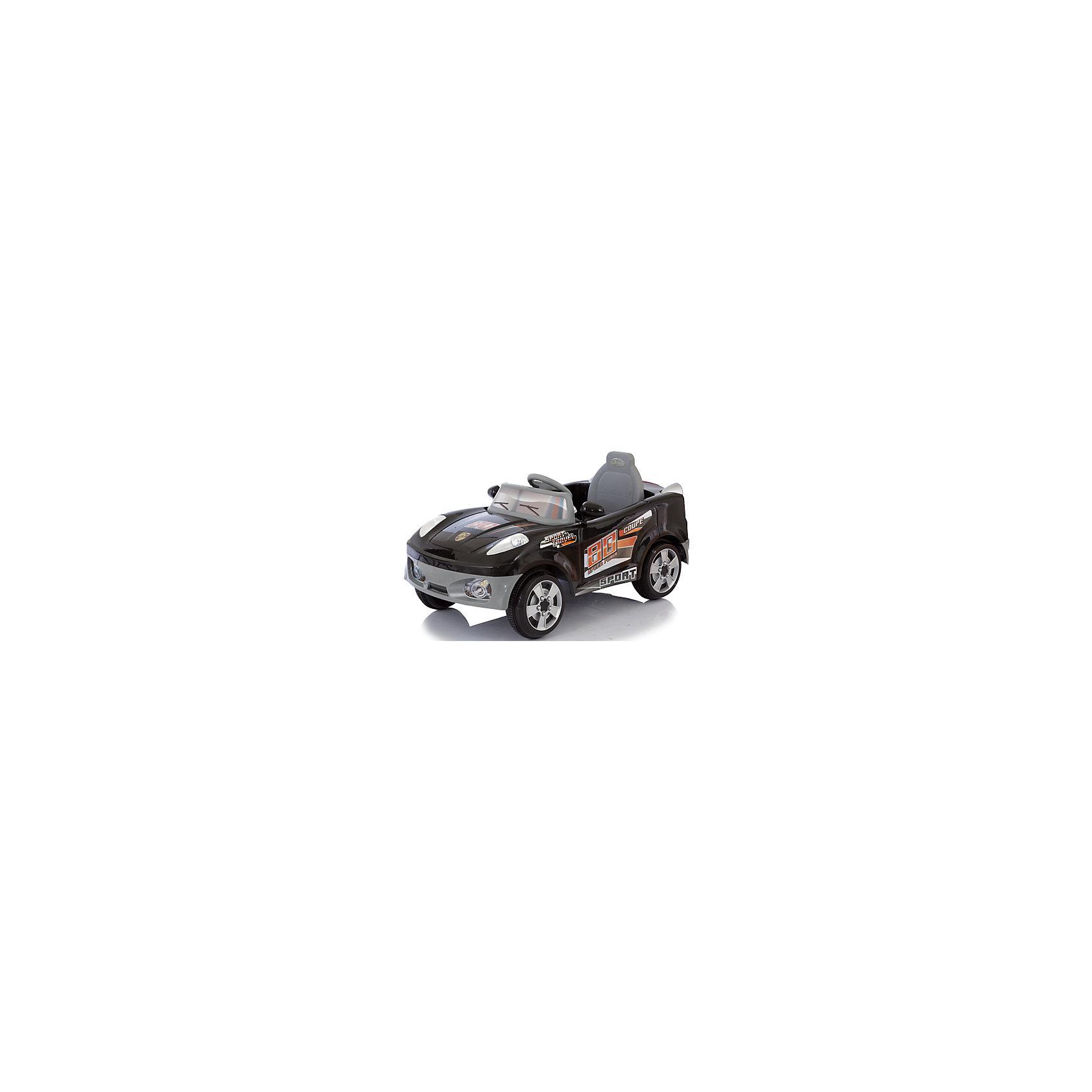 Электромобиль Coupe, черный, JetemJetem (Жетем) Coupe – качественный электромобиль, который подойдет даже самым маленьким.  Машина может управляться также с помощью пульта дистанционного управления, что позволяет максимально обезопасить ребенка. Электромобиль  питается от 6v аккумулятора, что позволяет ему беспрерывно двигаться в течении 2,5 часов. Максимальная скорость – 3,5 км/ч, есть возможность езды задом. Колеса снабжены резиновыми накладками для лучшего сцепления. Руль оснащен модулем со множеством звуковых сигналов (требуются дополнительные AA батарейки). Есть возможность подключения mp3 плеера или радиоприемника. <br><br>Дополнительная информация:<br><br>Аккумулятор: 6V <br>Время работы аккумулятора: до 2,5 часов<br>Время зарядки аккумулятора: 8-10 часов<br>Коробка передач: 1 скорость вперед, 1 скорость назад <br>Максимальная скорость: до 3,5 км/ч<br>Размеры: размеры электромобиля: 106x71x71 см<br>Максимальная нагрузка: 35 кг<br>Вес:12,5 кг<br>Дальность действия ПДУ: около 20 метров<br><br>Электромобиль Coupe, черный, Jetem (Жетем) можно купить в нашем магазине.<br><br>Ширина мм: 1160<br>Глубина мм: 630<br>Высота мм: 390<br>Вес г: 16900<br>Возраст от месяцев: 24<br>Возраст до месяцев: 72<br>Пол: Унисекс<br>Возраст: Детский<br>SKU: 4618480