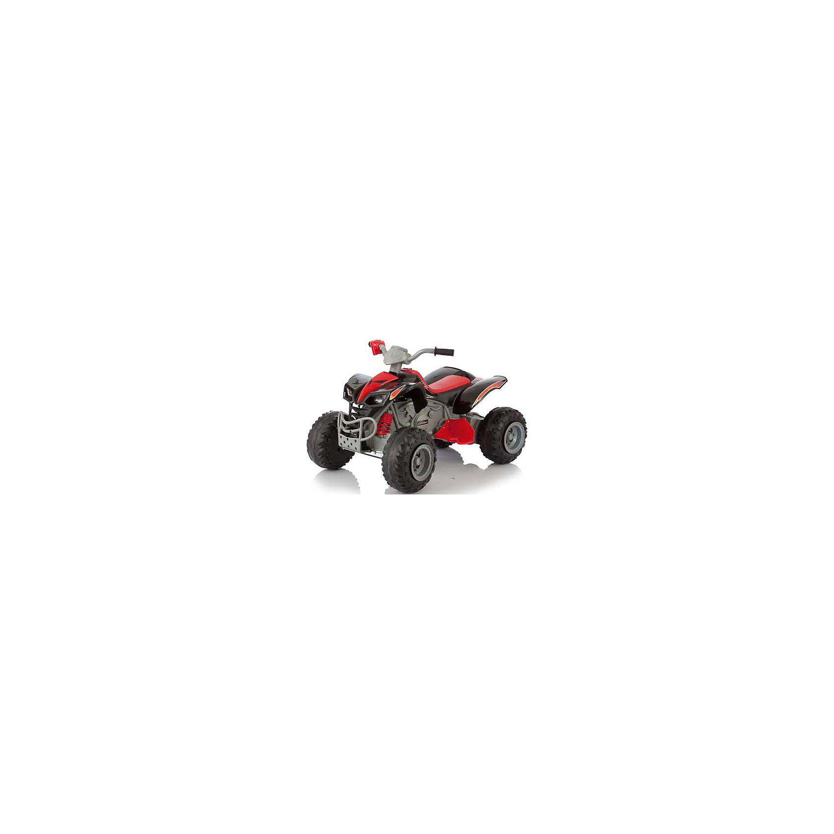 Электромобиль-квадроцикл Scat, черный, JetemJetem (Жетем) Scat – популярная модель детского квадроцикла. Прочная, надежная и безопасная машина. Удобное длинное сидение и подножки идеально адаптированы для ребенка. Специальные ручки с рифлением помогут малышу лучше справляться с управлением, а пластиковые крылья защитят малыша от брызг. Противоскользящий бандаж на все колесах существенно улучшает проходимость и снижает уровень шума.  Машина не боится ехать по грунтовой дороге или по траве. Квадроцикл питается от 12v аккумулятора и способен развивать скорость до 7,5 км/ч. Кроме того, есть возможность переключить передачу на более низкую (до 3 км/ч) или включить реверс. Первая скорость включается педалью, а вторая с помощью поворотной рукоятки.<br><br>Дополнительная информация:<br><br>Данный электромобиль не предназначен для катания двух детей одновременно.<br>Движение осуществляется с помощью педали.<br>Колёса: пластиковые.<br>Аккумулятор необходимо заряжать как минимум раз в месяц.<br>Аккумулятор: один 12v аккумулятора (10А/ч).<br>Мотор: два 6v мотора (25W).<br>Время работы аккумулятора: 1-2 часа.<br>Время зарядки аккумулятора: 10-12 часов.<br>Коробка передач: 2 скорости вперед, 1 скорость назад.<br>Максимальная скорость: до 7,5 км/ч.<br>Размеры электромобиля: 107x72x67 см.<br>Максимальная нагрузка: до 40 кг.<br>Вес: 17,5 кг.<br>Дальность действия ПДУ: около 20 метров.<br><br>Электромобиль-квадроцикл Scat, черный, Jetem (Жетем) можно купить в нашем магазине.<br><br>Ширина мм: 1140<br>Глубина мм: 630<br>Высота мм: 390<br>Вес г: 21000<br>Возраст от месяцев: 36<br>Возраст до месяцев: 72<br>Пол: Унисекс<br>Возраст: Детский<br>SKU: 4618484