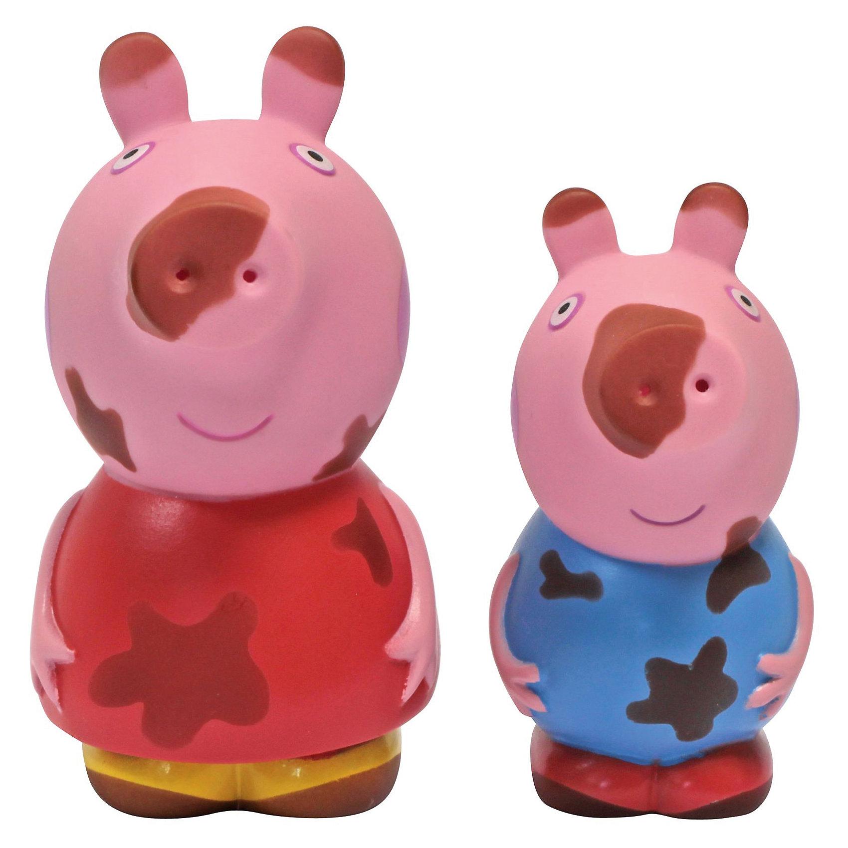 Набор Чистюля или грязнуля, Свинка ПеппаСвинка Пеппа<br>Детки обожают купаться в ванне в компании любимых игрушек, поэтому игровой набор «Чистюля или грязнуля» с фигурками в виде героев мультфильма «Свинка Пеппа» обязательно приведет в восторг вашего малыша. Пеппа и Джордж прыгали по лужам и перепачкались в грязи. Им срочно нужно помыться! Опустите их в теплую воду, и пятна исчезнут, будто их и не бывало. Достаньте игрушки из воды, подождите немного – вы увидите, как магическим образом пятнышки появляются снова.<br><br>Дополнительная информация:<br><br>В игровом наборе для ванной «Чистюля или грязнуля» «Peppa Pig» 2 фигурки из пластизоля, брызгающиеся водой: Свинка Пеппа (10 см) и Малыш Джордж (8 см). <br>Пятна на фигурках исчезают в теплой воде. <br>Упаковка размером 17,2х13,8х6,2 см.<br><br>Набор Чистюля или грязнуля, Свинка Пеппа (Peppa Pig) можно купить в нашем магазине.<br><br>Ширина мм: 173<br>Глубина мм: 145<br>Высота мм: 173<br>Вес г: 100<br>Возраст от месяцев: 36<br>Возраст до месяцев: 84<br>Пол: Унисекс<br>Возраст: Детский<br>SKU: 4621977