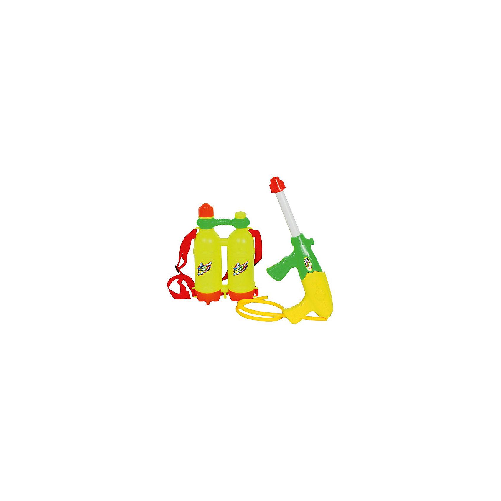 Водный автомат Водомёт, с ранцем-баллонами, 36 см, BebelotИгрушечное оружие<br>Водный автомат Водомёт, Bebelot, станет отличным развлечением в жаркие летние дни. Игрушка выполнена в ярком красочном дизайне и состоит из автомата и двух баллонов для воды. Все материалы качественные и прочные. Оружие-водомет удобно располагается в руке и легко заполняется водой. Вместительные баллоны для воды в виде ранца надежно фиксируются на спине благодаря широким лямкам. Юные любители пострелять могут устраивать настоящие водные сражения, бесконечно наполняя резервуар водой и поливая друг друга. Игры с водяным оружием не только увлекательны, но и безопасны для ребёнка, развивают глазомер, точность, меткость и ловкость.<br><br>Дополнительная информация:<br><br>- В комплекте: автомат, ранец из 2 баллонов.<br>- Материал: пластик.<br>- Длина водомета: 36 см.<br>- Размер ранца: 15 х 24 х 6,5 см. <br>- Размер упаковки: 36 х 28 х 7 см.<br>- Вес: 0,345.<br> <br>Водный автомат Водомёт, с ранцем-баллонами, 36 см., Bebelot, можно купить в нашем интернет-магазине.<br><br>Ширина мм: 360<br>Глубина мм: 280<br>Высота мм: 70<br>Вес г: 345<br>Возраст от месяцев: 36<br>Возраст до месяцев: 72<br>Пол: Унисекс<br>Возраст: Детский<br>SKU: 4622212