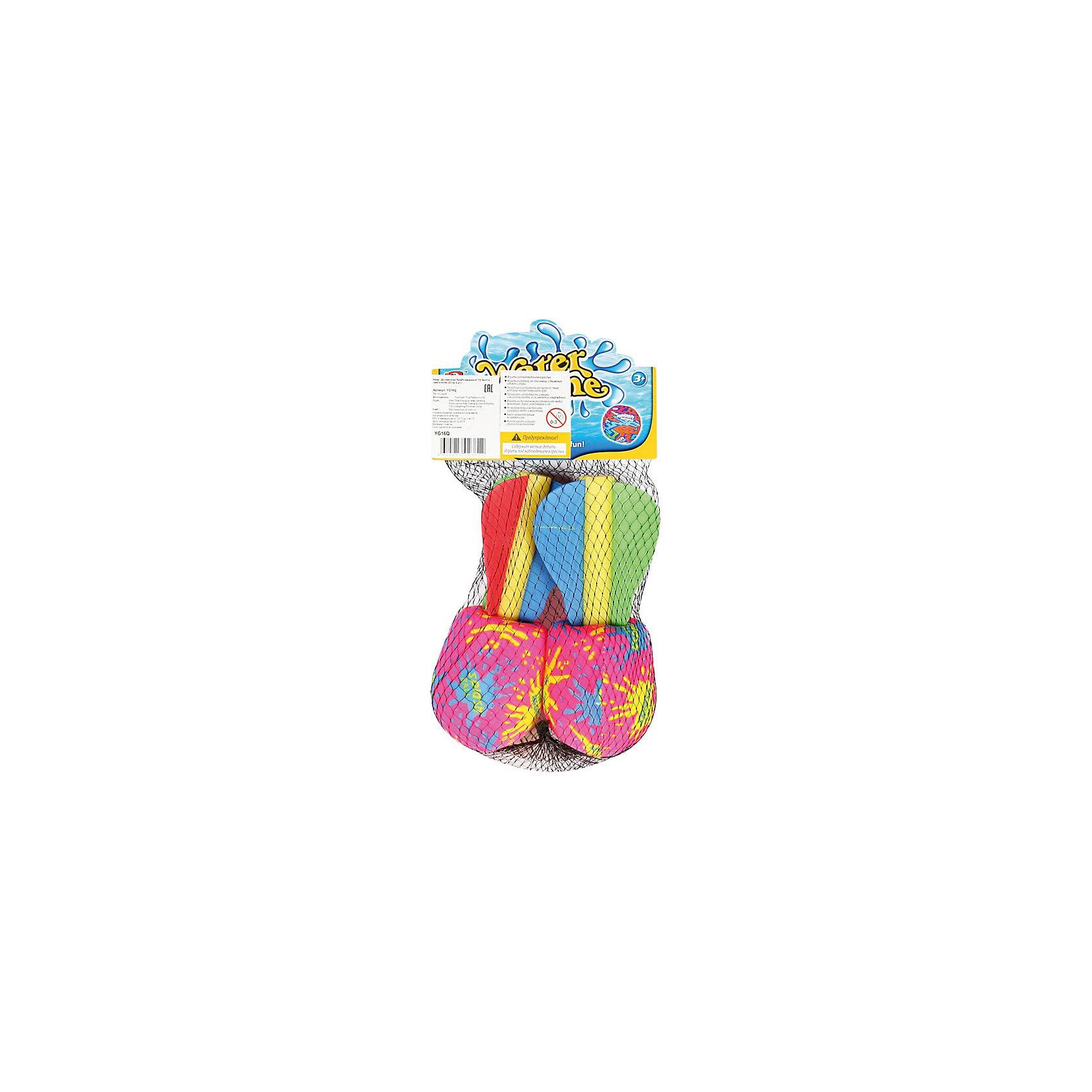 Детская игра Бомбочка-ракета, YG SportИгрушечное оружие<br>Детская игра Бомбочка-ракета, YG Sport, поможет разнообразить пляжный отдых или весело провести время на даче или на природе. В комплект входят две бомбочки-ракетки, выполненные в ярком красочном дизайне. Чтобы начать игру, наполните шарик водой и стреляйте в выбранную мишень. Игры с водой не только подарят отличное настроение всем участникам, но и помогут освежиться жарким летним днём! Игрушка изготовлена из качественного и гипоаллергенного материала, абсолютно безопасного для детского здоровья. Развивает меткость, ловкость, внимательность и мелкую моторику.<br><br>Дополнительная информация:<br><br>- В комплекте: 2 бомбочки-ракеты.<br>- Материал: пластик, резина. латекс. <br>- Размер одной ракетки: 20 см.<br>- Размер упаковки: 15 х 7,5 х 28 см.<br>- Вес: 25 гр.<br> <br>Детскую игру Бомбочка-ракета, YG Sport, можно купить в нашем интернет-магазине.<br><br>Ширина мм: 150<br>Глубина мм: 75<br>Высота мм: 280<br>Вес г: 25<br>Возраст от месяцев: 36<br>Возраст до месяцев: 72<br>Пол: Унисекс<br>Возраст: Детский<br>SKU: 4622222