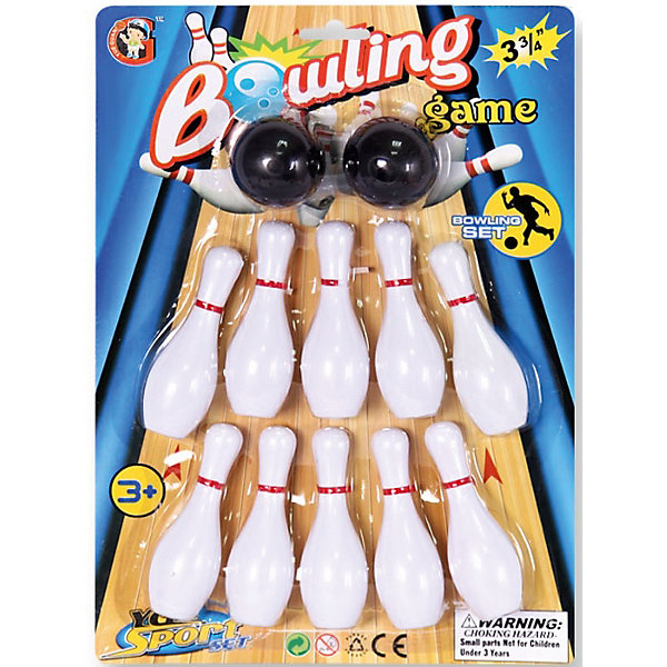 Детская игра Боулинг, YG SportКольцебросы и боулинг<br>Детская игра Боулинг, YG Sport, прекрасный вариант для подвижных активных игр на открытом воздухе. В комплект входят кегли яркой белой расцветки и два шара с выемками-отверстиями для удобного захвата. Цель игры - сбить шаром максимальное количество кеглей. Можно играть как в одиночку, так и в компании друзей или родителей. Набор лёгкий и компактный, что позволяет брать его с собой в дорогу, поездки и путешествия. Игра в боулинг развивает ловкость, меткость и координацию движений, а также помогает в укреплении общефизического состояния. <br><br>Дополнительная информация:<br><br>- В комплекте: кегли - 10 шт., шары - 2 шт.<br>- Материал: пластик. <br>- Длина кегли: 10 см.<br>- Размер упаковки: 30 х 10 х 28 см.<br>- Вес: 56 гр.<br> <br>Детскую игру Боулинг, YG Sport, можно купить в нашем интернет-магазине.<br>Ширина мм: 226; Глубина мм: 48; Высота мм: 320; Вес г: 111; Возраст от месяцев: 36; Возраст до месяцев: 72; Пол: Унисекс; Возраст: Детский; SKU: 4622223;