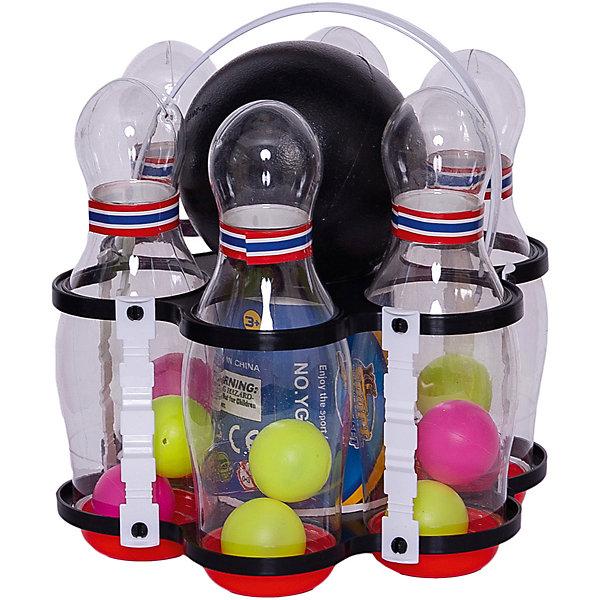 Детская игра Весёлый боулинг, YG SportИгрушечное оружие<br>Детская игра Весёлый боулинг, YG Sport - прекрасный вариант для подвижных активных игр в помещении или на открытом воздухе. В комплект входят кегли яркой белой расцветки и шар с выемками-отверстиями для удобного захвата. Кегли могут светиться в темноте, что делает игру еще более зрелищной и захватывающей. Задача игроков - сбить шаром максимальное количество кеглей. Можно играть как в одиночку, так и в компании друзей или родителей. Набор лёгкий и компактный, что позволяет брать его с собой в дорогу, поездки и путешествия. Игра в боулинг развивает ловкость, меткость и координацию движений, а также помогает в укреплении общефизического состояния. <br><br>Дополнительная информация:<br><br>- В комплекте: кегли - 6 шт., шар.<br>- Материал: пластик. <br>- Высота кегли: 18 см.<br>- Размер упаковки: 19 х 19 х 21 см.<br>- Вес: 0,25 кг.<br> <br>Детскую игру Весёлый боулинг, YG Sport, можно купить в нашем интернет-магазине.<br><br>Ширина мм: 190<br>Глубина мм: 190<br>Высота мм: 210<br>Вес г: 250<br>Возраст от месяцев: 36<br>Возраст до месяцев: 72<br>Пол: Унисекс<br>Возраст: Детский<br>SKU: 4622224