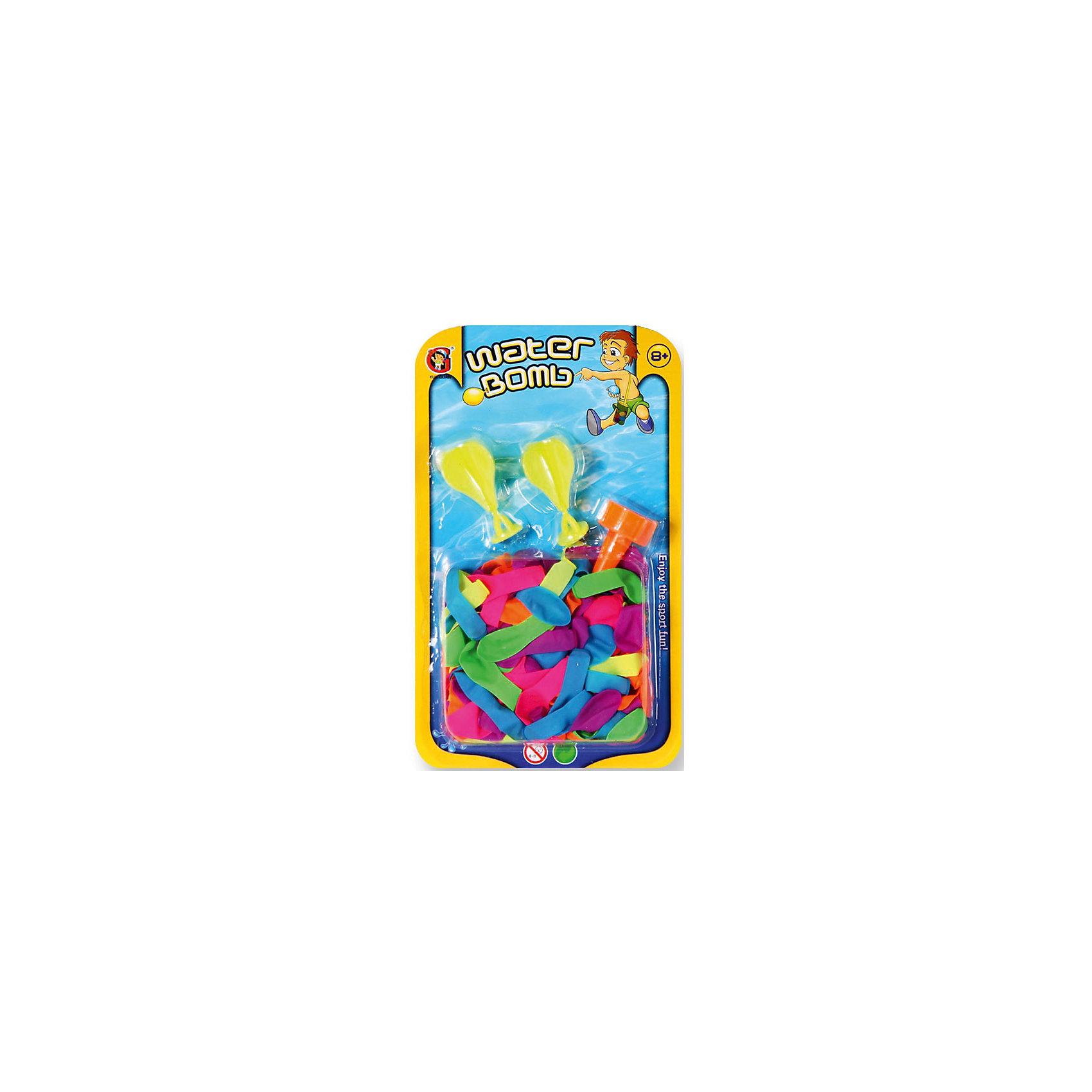Детская игра Водяные бомбочки (шарики 150 шт., аксессуары), YG SportИгровые наборы<br>Детская игра Водяные бомбочки, YG Sport - станет отличным развлечением в жаркие летние дни. В комплект входят разноцветные шарики и аксессуары-воронки. Все предметы выполнены в ярких красочных цветах. Чтобы начать водное сражение, наполните шарики водой, используя воронки, крепко завяжите концы и запускайте друг в друга. Игры с водой не только подарят отличное настроение всем участникам, но и помогут освежиться жарким летним днём! Игрушки изготовлены из качественного и гипоаллергенного материала, абсолютно безопасного для детского здоровья. Развивает меткость, ловкость, внимательность и мелкую моторику.<br><br>Дополнительная информация:<br><br>- В комплекте: шарики - 150 шт., воронки.<br>- Материал: нетоксичный латекс, резина, пластик. <br>- Размер упаковки: 15 х 3,1 х 25 см.<br>- Вес: 72 гр.<br> <br>Детскую игру Водяные бомбочки, YG Sport, можно купить в нашем интернет-магазине.<br><br>Ширина мм: 150<br>Глубина мм: 31<br>Высота мм: 250<br>Вес г: 72<br>Возраст от месяцев: 96<br>Возраст до месяцев: 1188<br>Пол: Унисекс<br>Возраст: Детский<br>SKU: 4622225