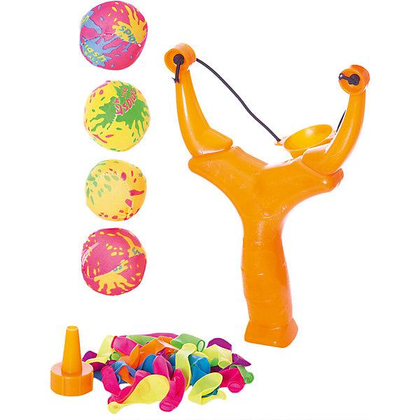 Детская игра Водяные бомбочки, (шарики 30 шт., бомбочки 4 шт., рогатка, воронка, сумка), YG SportИгрушечное оружие<br>Детская игра Водяные бомбочки, YG Sport - станет отличным развлечением в жаркие летние дни. В комплект входят разноцветные шарики и аксессуары-воронки. Все предметы выполнены в ярких красочных цветах. Чтобы начать водное сражение, наполните шарики водой, используя воронку, крепко завяжите концы и зарядите им рогатку. Игры с водой не только подарят отличное настроение всем участникам, но и помогут освежиться жарким летним днём! Игрушки изготовлены из качественного и гипоаллергенного материала, абсолютно безопасного для детского здоровья. Набор оформлен в удобную сумочку-сетку с лямкой. Развивает меткость, ловкость, внимательность и мелкую моторику.<br><br>Дополнительная информация:<br><br>- В комплекте: шарики - 30 шт., бомбочки - 4 шт., рогатка, воронка, сумка.<br>- Материал: нетоксичный латекс, резина, пластик. <br>- Размер упаковки: 20 х 5 х 31 см.<br>- Вес: 91 гр.<br> <br>Детскую игру Водяные бомбочки, YG Sport, можно купить в нашем интернет-магазине.<br>Ширина мм: 200; Глубина мм: 50; Высота мм: 310; Вес г: 91; Возраст от месяцев: 36; Возраст до месяцев: 72; Пол: Унисекс; Возраст: Детский; SKU: 4622226;