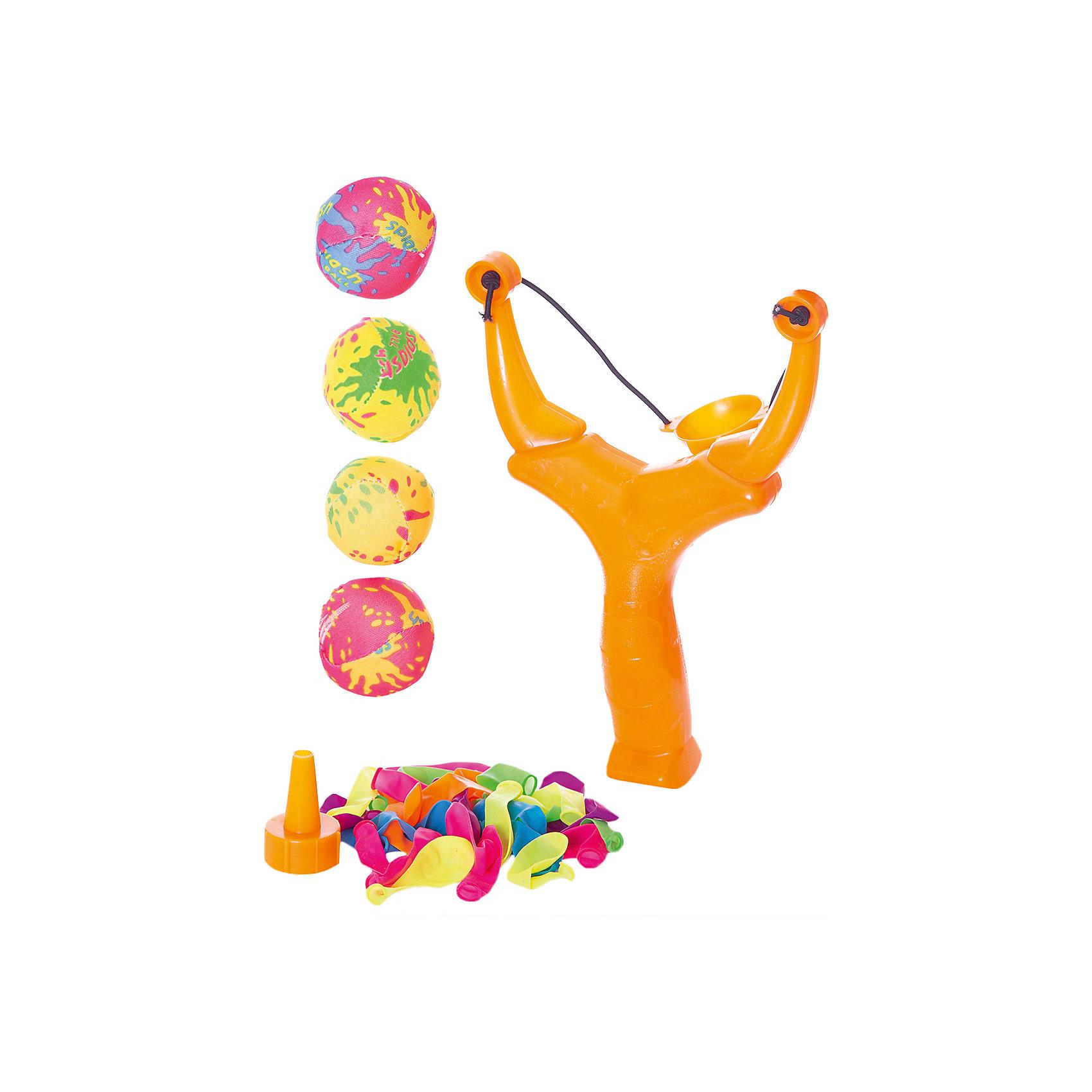 - Детская игра Водяные бомбочки, (шарики 30 шт., бомбочки 4 шт., рогатка, воронка, сумка), YG Sport детская игра стрельба из лука c мишенью и колчаном yg sport