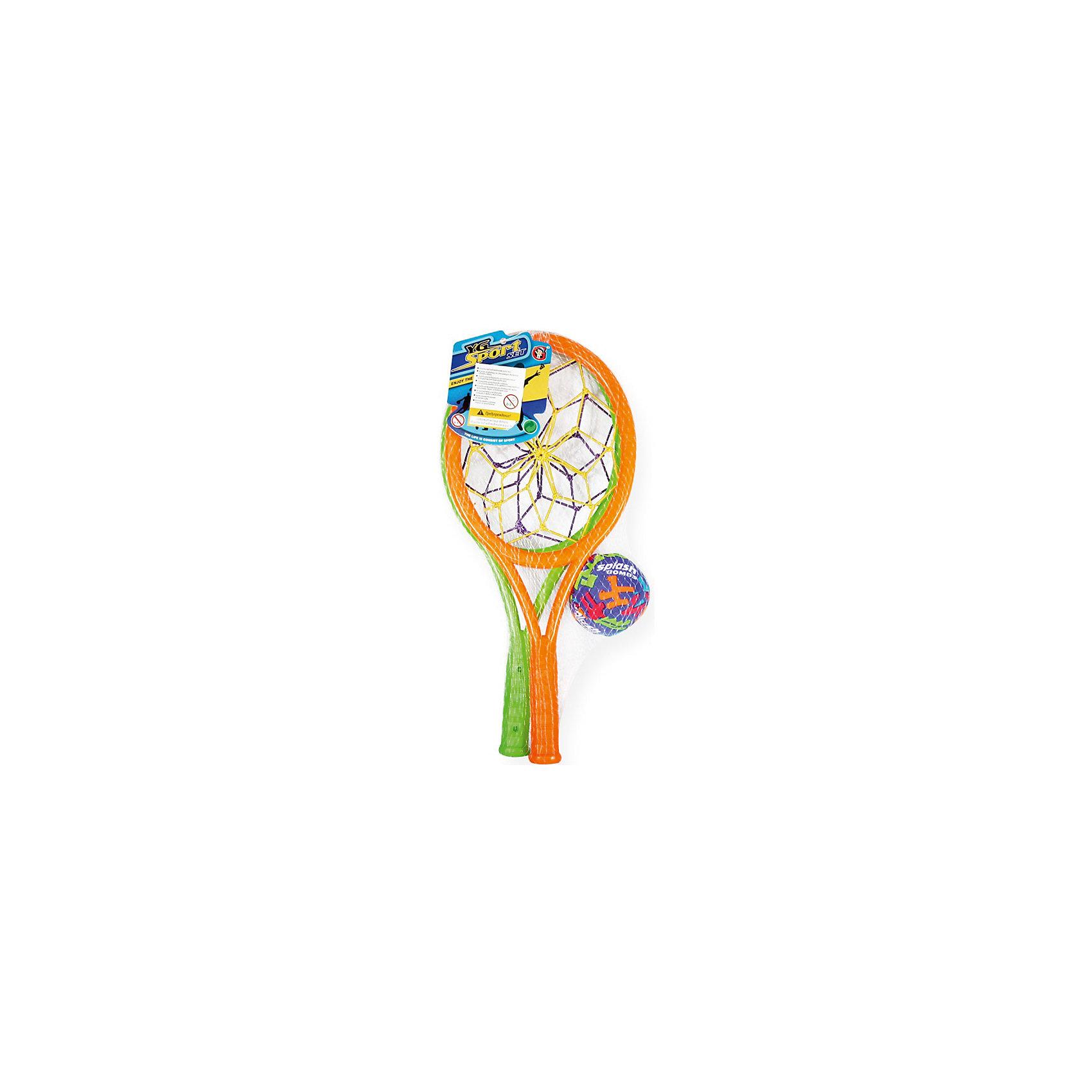 Детская игра Ракетки-ловушки, YG SportПодвижная веселая игра Ракетки-ловушки, YG Sport, прекрасно подойдет для всей семьи и поможет разнообразить отдых на даче или на природе. В комплект входят две ракетки для бадминтона с сеточкой-ловушкой и разноцветная бомбочка. Все предметы выполнены из прочного и качественного материала, абсолютно безопасного для детей. Игра развивает меткость, ловкость, внимательность и мелкую моторику.<br><br>Дополнительная информация:<br><br>- В комплекте: 2 ракетки-ловушки, бомбочка.<br>- Материал: пластик. <br>- Размер одной ракетки: 34 см.<br>- Диаметр бомбочки: 6 см.<br>- Размер упаковки: 15,3 х 6,5 х 38,2 см.<br>- Вес: 125 гр.<br> <br>Детскую игру Ракетки-ловушки, YG Sport, можно купить в нашем интернет-магазине.<br><br>Ширина мм: 153<br>Глубина мм: 65<br>Высота мм: 382<br>Вес г: 125<br>Возраст от месяцев: 36<br>Возраст до месяцев: 72<br>Пол: Унисекс<br>Возраст: Детский<br>SKU: 4622227