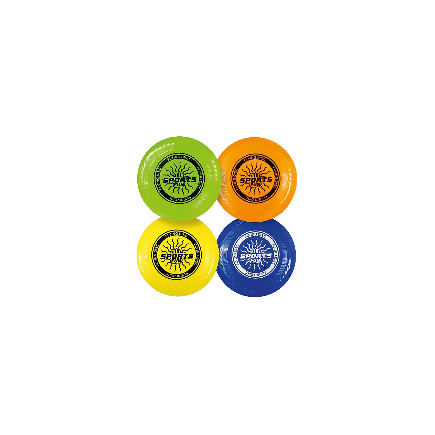 Летающий диск, YG SportЛетающие тарелки и бумеранги<br>Летающий диск, YG Sport, поможет разнообразить пляжный отдых или весело провести время на даче или на природе. Диск выполнен в ярком красочном дизайне, что позволяет легко найти его в траве, превосходные аэродинамические характеристики повышает дальность броска. Игрушка изготовлена из высококачественного и прочного материала, не содержащего токсичных красителей. Развивает координацию и моторику движений, меткость, ловкость и внимательность. <br><br>Дополнительная информация:<br><br>- Материал: пластик. <br>- Диаметр диска: 25 см.<br>- Размер упаковки: 25,4 х 2,4 х 25,4 см.<br>- Вес: 72 гр.<br> <br>Летающий диск, YG Sport, можно купить в нашем интернет-магазине.<br><br>Ширина мм: 254<br>Глубина мм: 24<br>Высота мм: 254<br>Вес г: 72<br>Возраст от месяцев: 36<br>Возраст до месяцев: 72<br>Пол: Унисекс<br>Возраст: Детский<br>SKU: 4622234