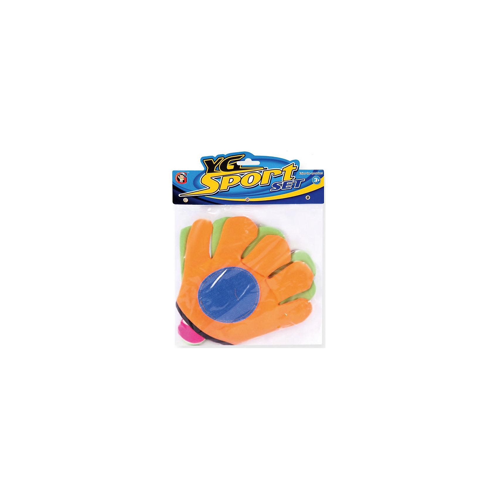 Игра на открытом воздухе Мячеловка, с перчатками-липучками 24 см, YG SportИгровые наборы<br>Игра Мячеловка, YG Sport - прекрасный способ весело и активно провести время на природе. В комплект входят мяч и специальная перчатка -липучка, обеспечивающая более удобное захватывание мяча. На поверхности перчатки имаются специальные крючочки-липучки, которые крепко цепляются за мяч и не дают ему упасть. Игрушка развивает координацию и моторику движений, меткость, ловкость и внимательность<br> <br>Дополнительная информация:<br><br>- В комплекте: мяч, перчатка-липучка - 2 шт.<br>- Материал: резина\латекс. <br>- Размер перчатки: 24 см.<br>- Размер упаковки: 21,7 х 4,5 х 29 см.<br>- Вес: 71 гр.<br> <br>Игру на открытом воздухе Мячеловка, с перчатками-липучками, YG Sport, можно купить в нашем интернет-магазине.<br><br>Ширина мм: 217<br>Глубина мм: 45<br>Высота мм: 290<br>Вес г: 71<br>Возраст от месяцев: 36<br>Возраст до месяцев: 72<br>Пол: Унисекс<br>Возраст: Детский<br>SKU: 4622235