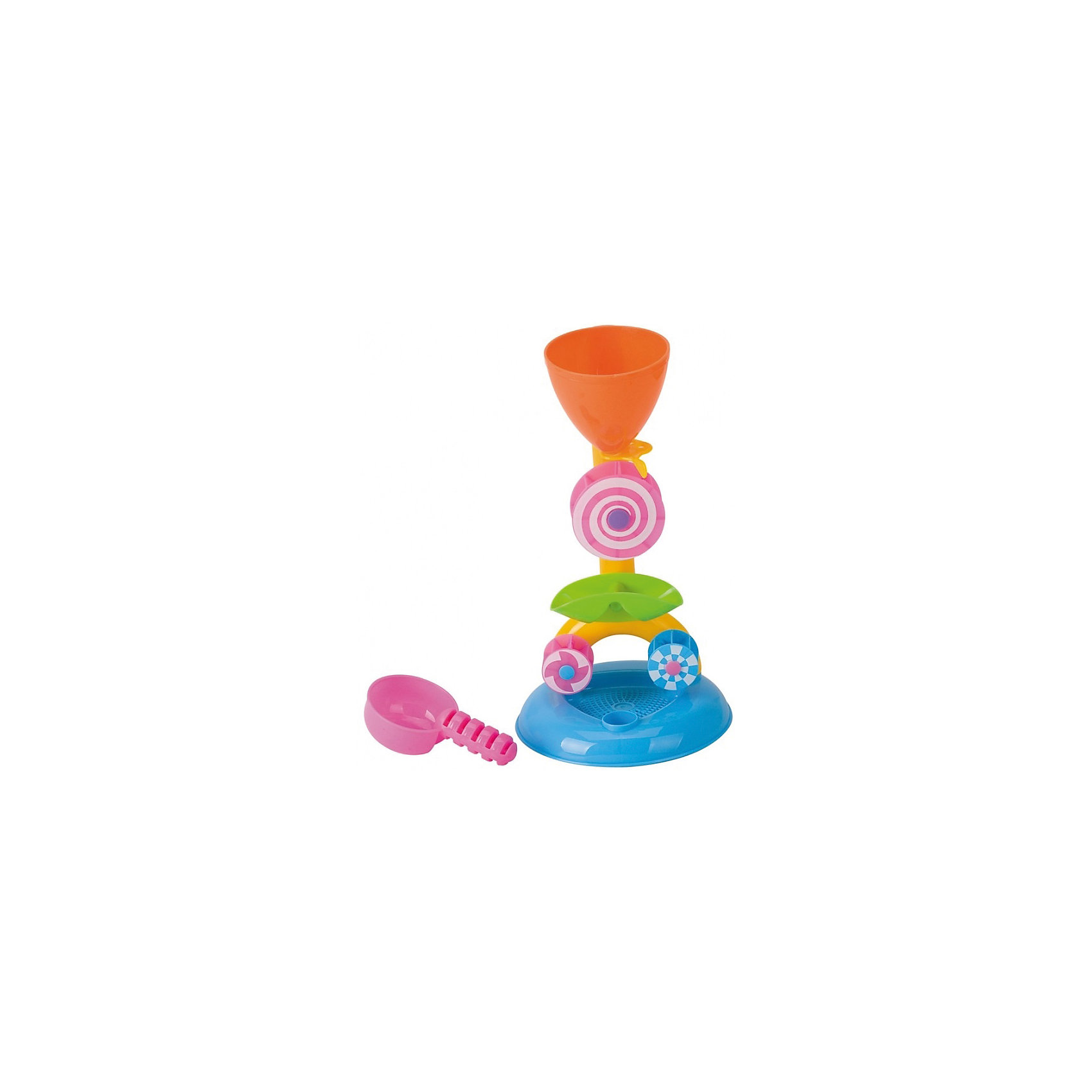 Набор для игр с песком и водой Мельница, 5 предм., Hualian ToysЛейки и поливалки<br>Набор для игр с песком и водой Мельница, Hualian Toys, прекрасно подойдет для игр в песочнице и на пляже. Также его можно использовать во время купания в ванной. Красочная игрушка представляет из себя воронку с широким устойчивым основанием и дополнительными деталями к ней: крутящимися колесами, ситом и ковшом. Заполняя воронку водой или песком, малыш с интересом будет наблюдать как водяная или песчаная струя приводят в движение лопасти колес на мельнице. Игрушка выполнена из экологически чистого и высококачественного материала, не содержащего в составе вредных красителей. Способствует развитию зрительного восприятия и тактильных ощущений, тренирует мелкую моторику. <br><br>Дополнительная информация:    <br>    <br>- В комплекте: воронка, два водяных колеса, сито, ковш.<br>- Материал: пластик. <br>- Размер упаковки: 10 х 17,5 х 32 см.<br>- Вес: 0,27 кг.<br><br>Набор для игр с песком и водой Мельница, 5 предметов, Hualian Toys, можно купить в нашем интернет-магазине/<br><br>Ширина мм: 100<br>Глубина мм: 175<br>Высота мм: 320<br>Вес г: 270<br>Возраст от месяцев: 36<br>Возраст до месяцев: 72<br>Пол: Унисекс<br>Возраст: Детский<br>SKU: 4622253