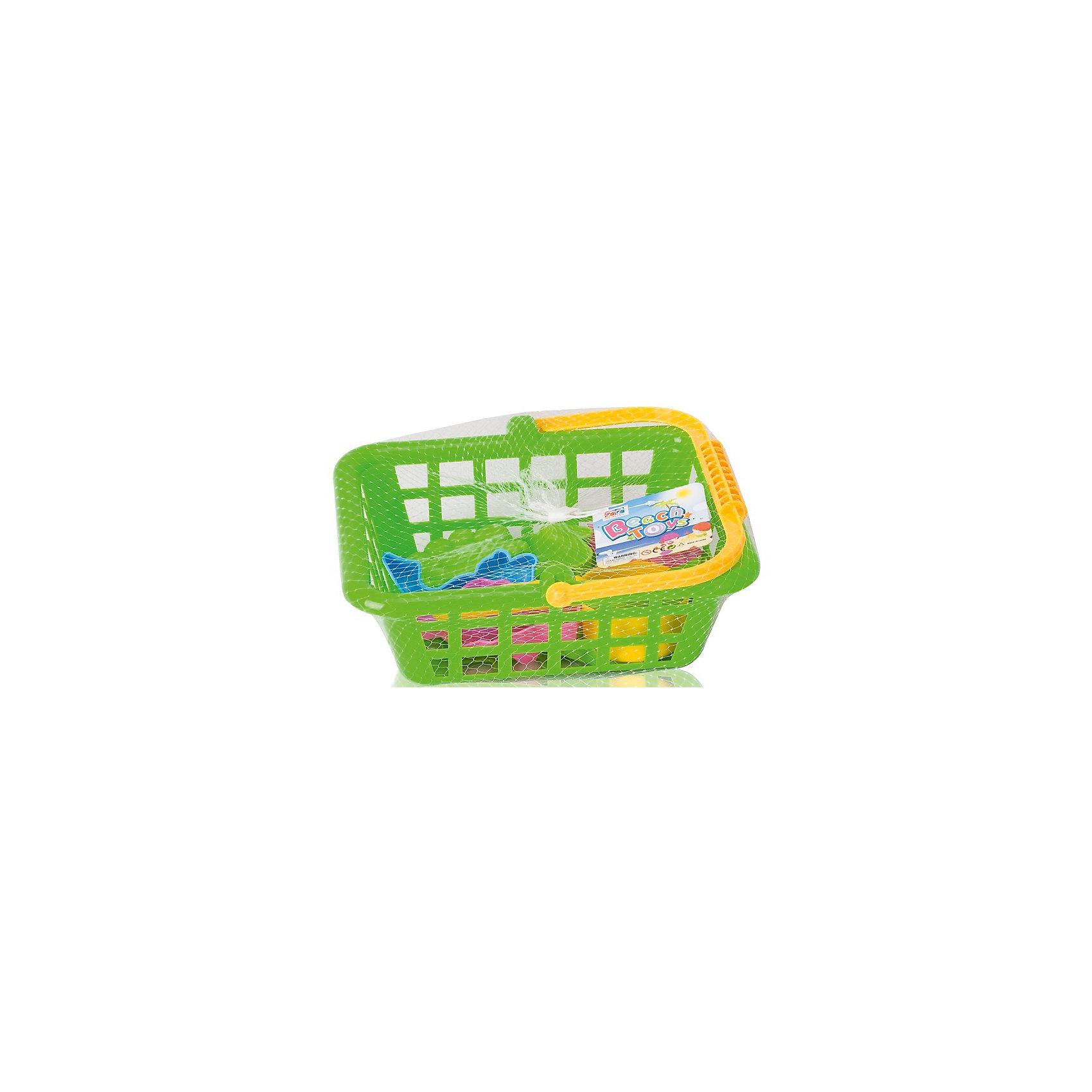 """Игровой набор """"Жители моря"""", 8 предм., в корзинке, Hualian Toys от myToys"""