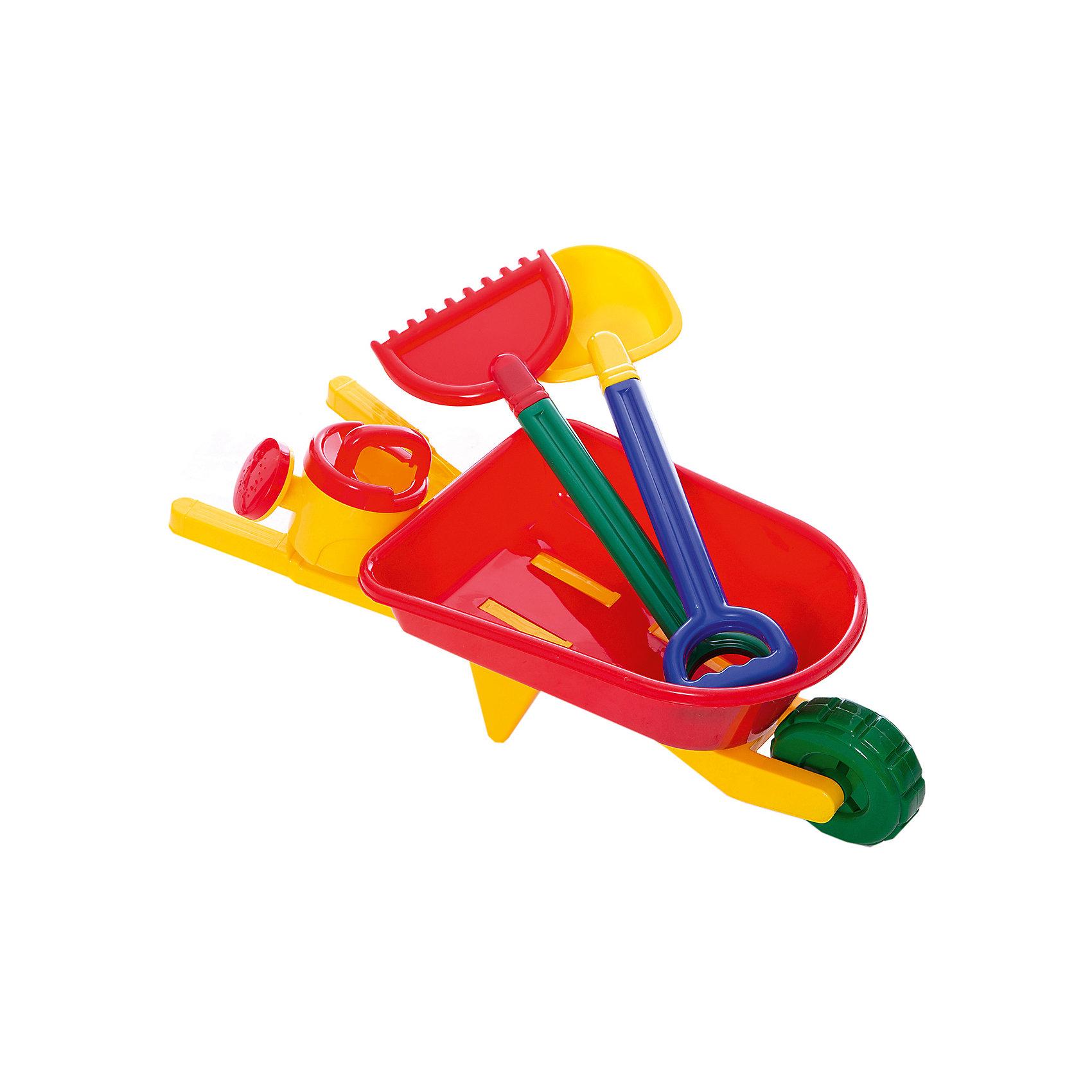 Набор для песка, 4 предм,  ALTACTOНабор для песка, Altacto, порадует Вашего малыша и сделает игры в песочнице еще веселее и интереснее. В комплект входят красочная тележка с функциональным колесиком и фиксатором положения конструкции, лейка, лопатка и грабли. Все предметы имеют эргономичную форму, удобную для захвата маленькой детской ручкой. Тележка оснащена просторным кузовом, который вместит в себя большой объем песка. Лопатка, грабли и совок прекрасно подходят для строительства сказочных замков или для садовых работ. Набор выполнен из качественного и прочного материала, не содержащего в составе вредных красителей. Способствует развитию тактильных ощущений, мелкой и крупной моторики, а также двигательной активности ребенка.<br><br>Дополнительная информация:        <br><br>- В комплекте: тележка, лейка, лопатка, грабли.<br>- Материал: пластик. <br>- Размер упаковки: 31 х 22 х 60 см.<br>- Вес: 0,876 кг.<br><br>Набор для песка, 4 предмета, Altacto, можно купить в нашем интернет-магазине.<br><br>Ширина мм: 310<br>Глубина мм: 220<br>Высота мм: 600<br>Вес г: 876<br>Возраст от месяцев: 36<br>Возраст до месяцев: 72<br>Пол: Унисекс<br>Возраст: Детский<br>SKU: 4622261