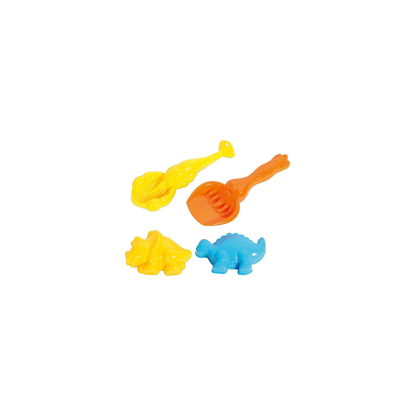 Набор для игр с песком 4 в 1, ALTACTOИгра с песком - одна из самых любимых забав у малышей. А с красочными игрушками для песочницы любимое занятие станет еще веселее и интереснее. В набор для игр с песком 4 в 1, Altacto, входят два совочка и две симпатичные формочки в виде фигурок динозавров  Все предметы имеют форму, удобную для захвата маленькой детской ручкой. Яркие насыщенные цвета помогут в развитии цветового восприятия. Игрушки выполнены из высококачественного материла, отвечающего всем требованиям детской безопасности.<br><br>Дополнительная информация:        <br><br>- В комплекте: 2 совочка, 2 формочки.<br>- Материал: пластик. <br>- Размер упаковки: 14,5 х 4 х 6 см.<br>- Вес: 42 гр.<br><br>Набор для игр с песком 4 в 1, Altacto, можно купить в нашем интернет-магазине.<br><br>Ширина мм: 145<br>Глубина мм: 40<br>Высота мм: 60<br>Вес г: 42<br>Возраст от месяцев: 36<br>Возраст до месяцев: 72<br>Пол: Унисекс<br>Возраст: Детский<br>SKU: 4622263