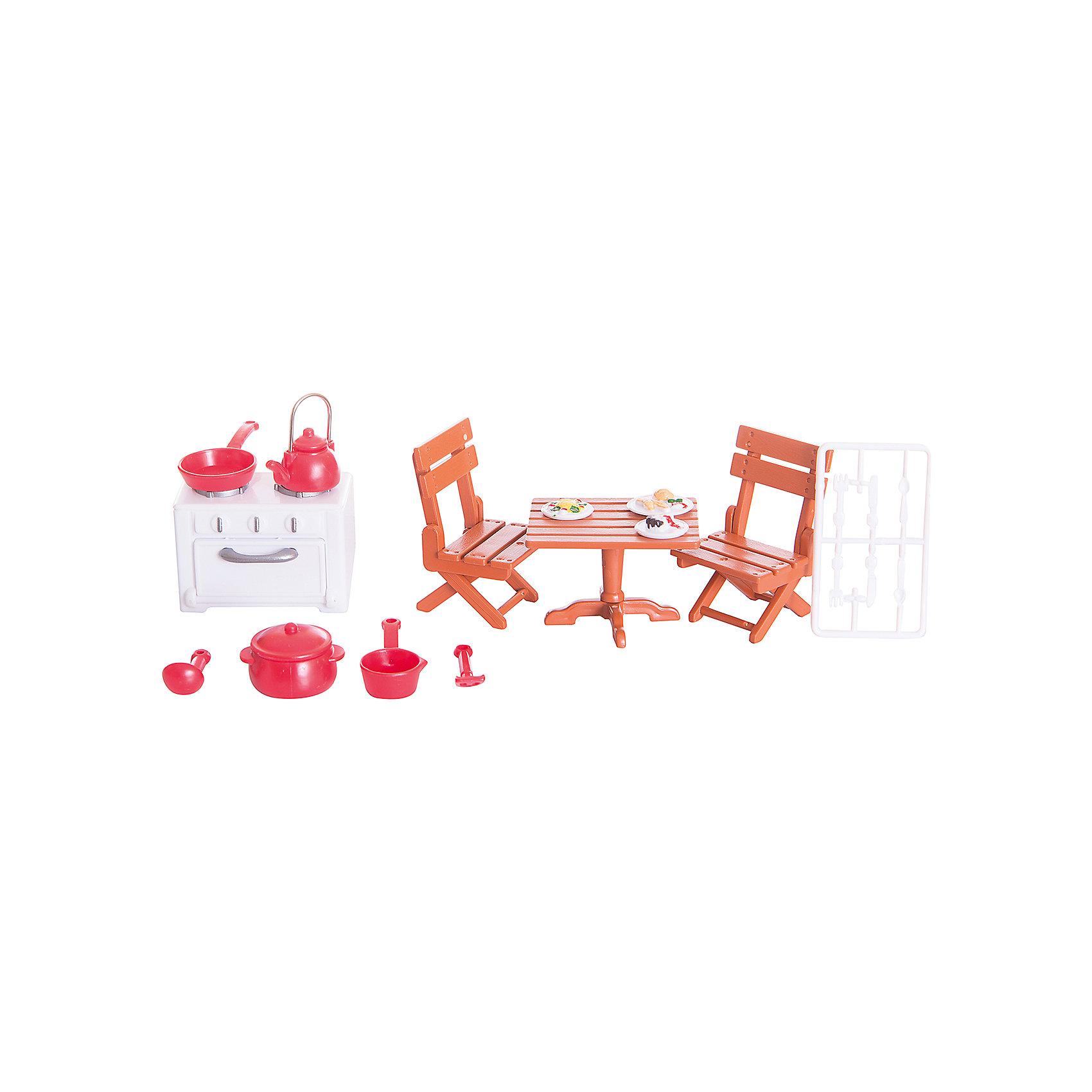- Набор мебели для гостиной № 2, с аксессурами, Счастливые друзья, ABtoys