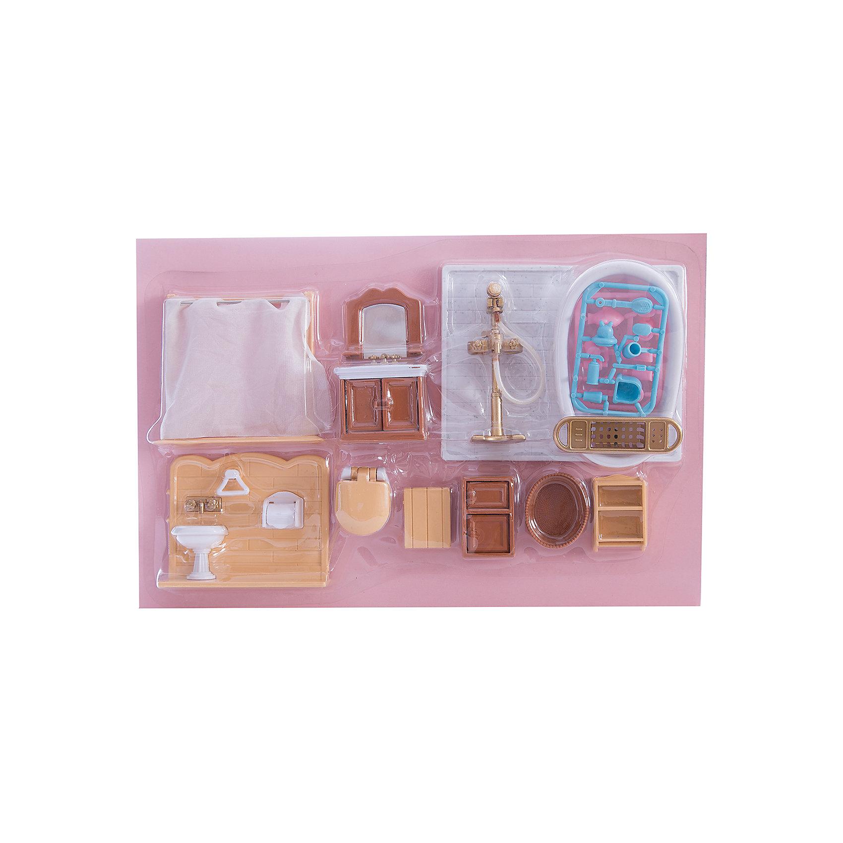 Набор мебели для ванной, с аксессурами, Счастливые друзья, ABtoysДомики и мебель<br>Набор мебели для ванной, с аксессуарами, Счастливые друзья, ABtoys (АБтойс) - этот игровой набор сделает счастливой каждую девочку!<br>С набором мебели для ванной от компании ABtoys (АБтойс) ребенок сможет разыграть множество сценок из жизни забавных зверюшек. Белая ванночка, ширмы, умывальники и полки для предметов личной гигиены понравятся каждой девочке. А разнообразные аксессуары сделают игру еще более увлекательной. С таким игровым набором ваша девочка сможет придумывать множество сюжетно-ролевых игр.<br><br>Дополнительная информация:<br><br>- В наборе: мебель для гостиной (трюмо, стол, стул), аксессуары<br>- Цвет: коричневый, белый, голубой, розовый<br>- Материал: пластик<br>- Размер упаковки: 33,2 x 5,5 x 21,8 см.<br>- Вес: 353 гр.<br><br>Набор мебели для ванной, с аксессуарами, Счастливые друзья, ABtoys (АБтойс) можно купить в нашем интернет-магазине.<br><br>Ширина мм: 332<br>Глубина мм: 218<br>Высота мм: 55<br>Вес г: 353<br>Возраст от месяцев: 36<br>Возраст до месяцев: 144<br>Пол: Женский<br>Возраст: Детский<br>SKU: 4622661