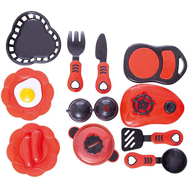 Набор посуды для кухни с продуктами №2, 14 предм., Помогаю маме, ABtoysДетские кухни<br>Набор посуды для кухни с продуктами №2, 14 предм., Помогаю маме, ABtoys (АБтойс) – набор поможет девочке освоить навыки хорошей хозяйки.<br>Набор содержит все необходимое для приготовления блюд и организации обеда для кукол. В него входят плитка для разогрева еды, весы, столовые приборы, кастрюля, сковорода, солонка и перечница, а также муляжи яичницы. Каждый из предметов выполнен из пластика красного и черного цвета и выглядит очень привлекательно и реалистично. Их удобно держать в руках. С таким набором малышка обязательно станет настоящей хозяйкой и сможет помогать маме на кухне. Комплект изготовлен из высококачественного пластика особой прочности, поэтому ему не страшны удары и падения.<br><br>Дополнительная информация:<br><br>- В наборе 14 предметов: плитка, весы, кастрюлька с крышкой, сковорода с крышкой, солонка, перечница, ножик, черпачок, лопатка, вилка, 2 яичницы<br>- Цвет: красный, черный, белый, желтый<br>- Материал: пластик<br>- Упаковка: сетка<br>- Размер упаковки: 16х15х9 см.<br>- Вес: 141 гр.<br><br>Набор посуды для кухни с продуктами №2, 14 предм., Помогаю маме, ABtoys (АБтойс) можно купить в нашем интернет-магазине.<br><br>Ширина мм: 165<br>Глубина мм: 150<br>Высота мм: 90<br>Вес г: 141<br>Возраст от месяцев: 36<br>Возраст до месяцев: 84<br>Пол: Женский<br>Возраст: Детский<br>SKU: 4622663