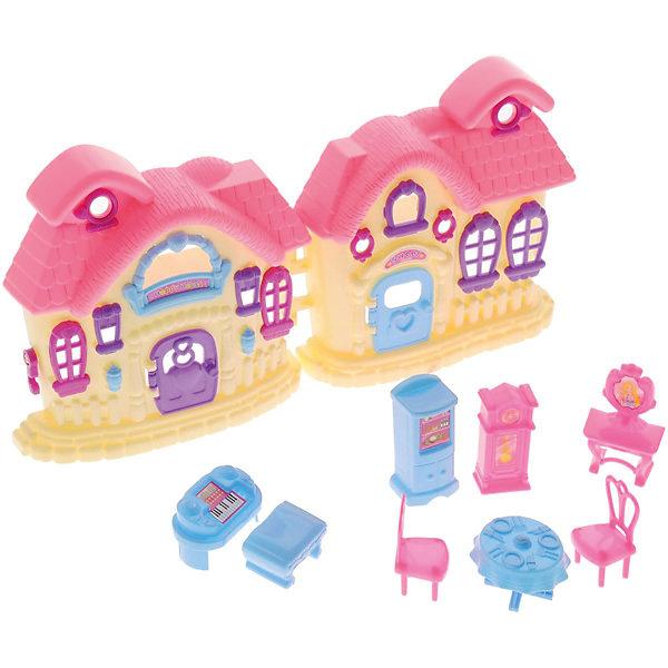 Дом В гостях у куклы, с аксессуарами, ABtoysДомики для кукол<br>Дом В гостях у куклы, с аксессуарами, ABtoys (АБтойс) – этот игровой набор привлечет внимание вашей малышки и не позволит ей скучать.<br>Игровой набор В гостях у куклы от компании ABtoys (АБтойс) включает в себя множество самых разных аксессуаров, которые сделают любую игру еще более увлекательной. Кукольный дом имеет 5 окон и фиолетовую дверь, которую можно открывать и закрывать. Голубая и розовая мебель для обстановки комнат понравится каждой девочке. Ваша малышка часами будет играть с набором, придумывая разные истории. Порадуйте ее таким замечательным подарком!<br><br>Дополнительная информация:<br><br>- В наборе: дом, 2 стула, стол, часы, холодильник, фортепиано, туалетный столик, банкетка<br>- Домик подходит для кукол высотой около 6 см.<br>- Цвет: розовый, желтый, голубой, фиолетовый<br>- Материал: пластик<br>- Размер упаковки: 21,5 x 10 x 29,5 см.<br>- Вес: 417 гр.<br><br>Дом В гостях у куклы, с аксессуарами, ABtoys (АБтойс) можно купить в нашем интернет-магазине.<br>Ширина мм: 215; Глубина мм: 100; Высота мм: 295; Вес г: 417; Возраст от месяцев: 36; Возраст до месяцев: 120; Пол: Женский; Возраст: Детский; SKU: 4622665;
