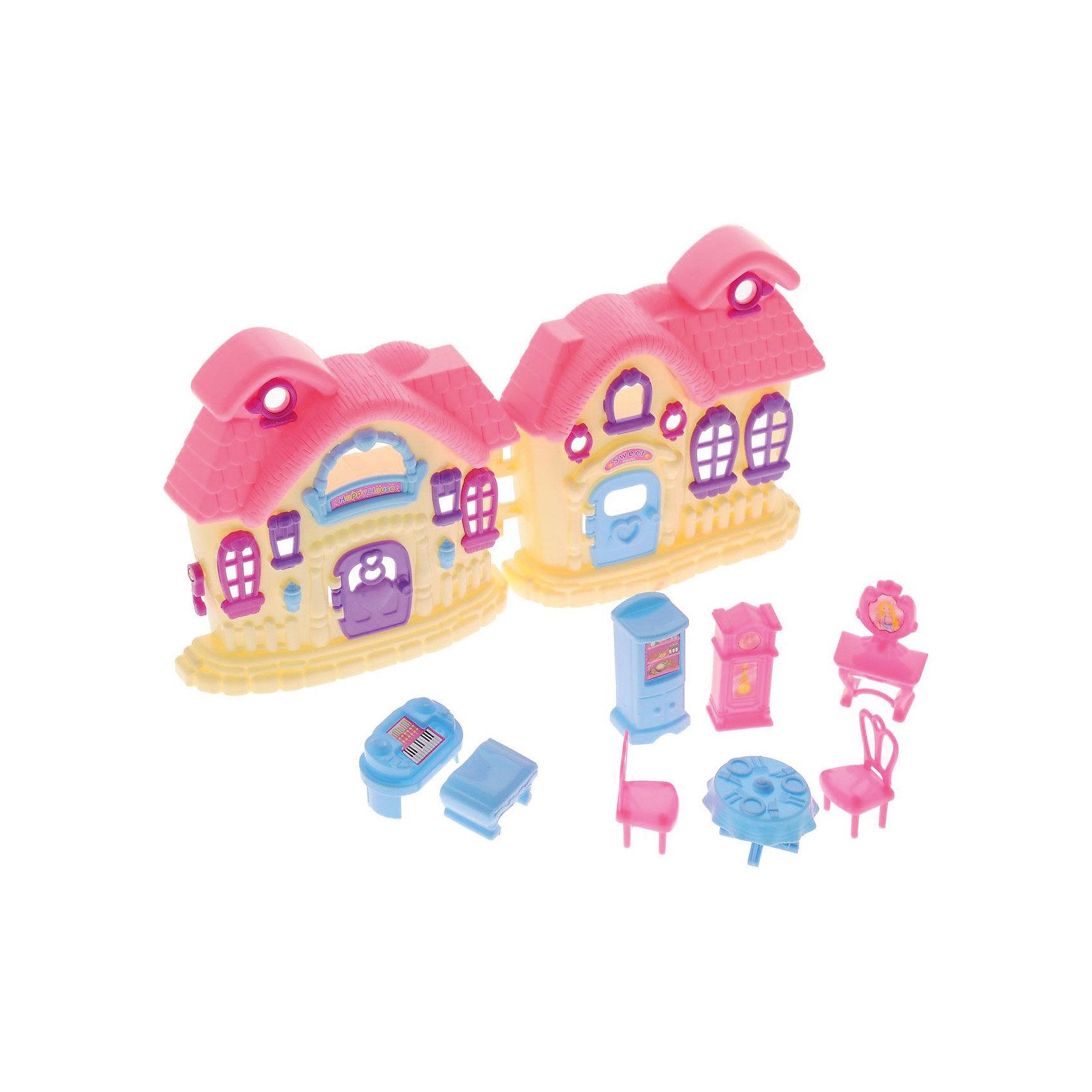 Дом В гостях у куклы, с аксессуарами, ABtoysДомики и мебель<br>Дом В гостях у куклы, с аксессуарами, ABtoys (АБтойс) – этот игровой набор привлечет внимание вашей малышки и не позволит ей скучать.<br>Игровой набор В гостях у куклы от компании ABtoys (АБтойс) включает в себя множество самых разных аксессуаров, которые сделают любую игру еще более увлекательной. Кукольный дом имеет 5 окон и фиолетовую дверь, которую можно открывать и закрывать. Голубая и розовая мебель для обстановки комнат понравится каждой девочке. Ваша малышка часами будет играть с набором, придумывая разные истории. Порадуйте ее таким замечательным подарком!<br><br>Дополнительная информация:<br><br>- В наборе: дом, 2 стула, стол, часы, холодильник, фортепиано, туалетный столик, банкетка<br>- Домик подходит для кукол высотой около 6 см.<br>- Цвет: розовый, желтый, голубой, фиолетовый<br>- Материал: пластик<br>- Размер упаковки: 21,5 x 10 x 29,5 см.<br>- Вес: 417 гр.<br><br>Дом В гостях у куклы, с аксессуарами, ABtoys (АБтойс) можно купить в нашем интернет-магазине.<br><br>Ширина мм: 215<br>Глубина мм: 100<br>Высота мм: 295<br>Вес г: 417<br>Возраст от месяцев: 36<br>Возраст до месяцев: 120<br>Пол: Женский<br>Возраст: Детский<br>SKU: 4622665