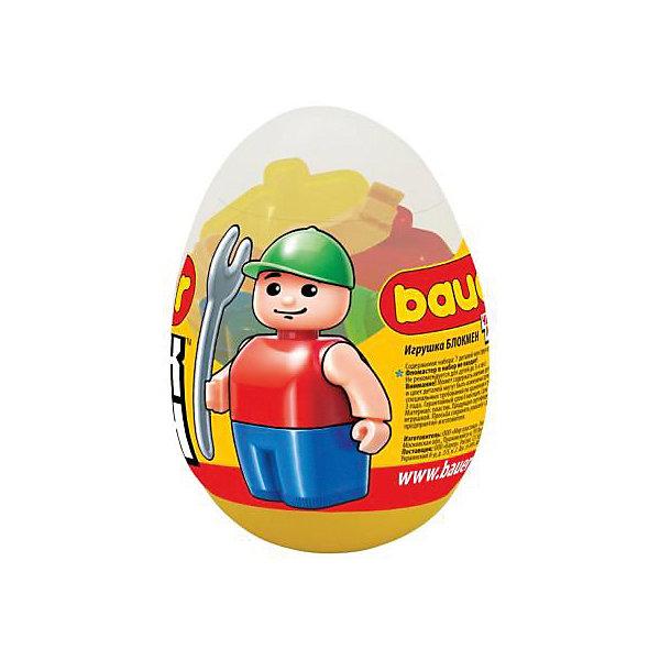 Игрушка в яйце Bauer Eggs, в ассортиментеПластмассовые конструкторы<br>Характеристики:<br><br>• игрушка-сюрприз в яйце;<br>• в наборе 7 деталей;<br>• возможность собрать фигурку;<br>• материал: пластик;<br>• детали совместимы с наборами Бауэр.<br><br>ВНИМАНИЕ! Данный артикул представлен в разных вариантах исполнения. К сожалению, заранее выбрать определенный вариант невозможно. При заказе нескольких игрушек возможно получение одинаковых.<br><br>Игрушку в яйце Bauer Eggs, в ассортименте можно купить в нашем интернет-магазине.<br>Ширина мм: 60; Глубина мм: 60; Высота мм: 90; Вес г: 40; Возраст от месяцев: 36; Возраст до месяцев: 144; Пол: Унисекс; Возраст: Детский; SKU: 4622681;