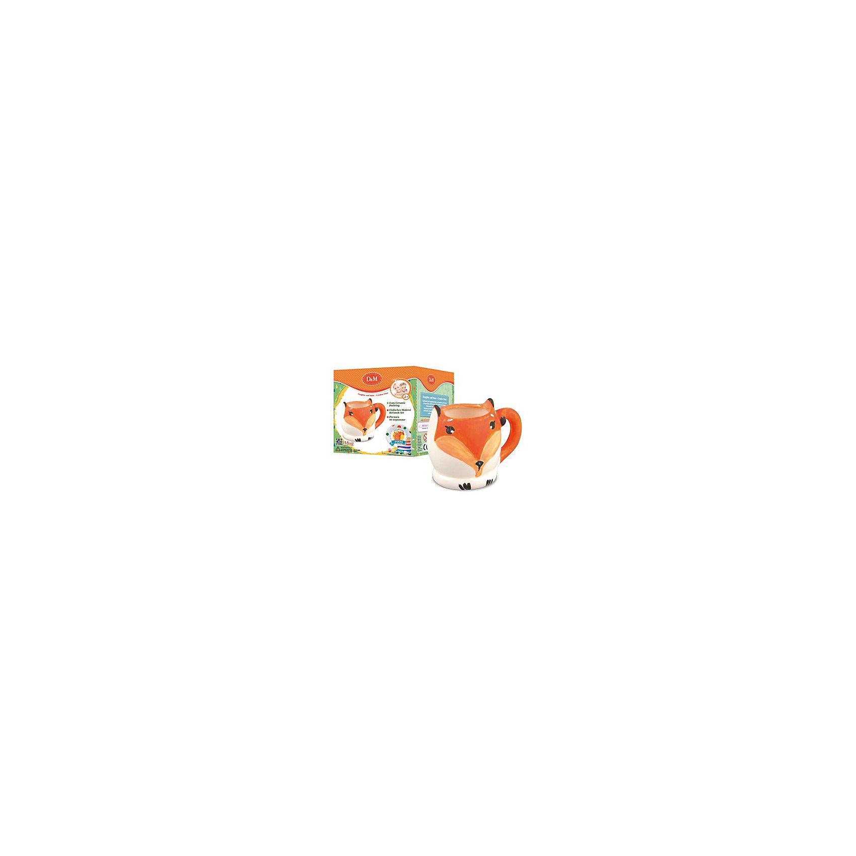 РосписьпокерамикеКружкаЛисаПосуда<br>Роспись по керамике Кружка Лиса – это увлекательный вариант досуга для юных рукодельниц.<br>Декоративная роспись - творческий и увлекательный процесс. Яркие краски, кисть и керамическая кружка - все что нужно, чтобы создать атмосферу художественной мастерской, где творятся чудеса. Набор для росписи по керамике Кружка Лиса поможет создать красивое произведения искусства, которое можно использовать и в быту. Кружка в виде мордашки миловидной лисы с торчащими ушками и хвостиком, играющим роль ручки, будет напоминать ребенку, как  он наполнял бесцветное керамическое изделие яркими насыщенными цветами. Занятия с набором способствуют развитию вкуса, воображения и творческих способностей ребенка.<br><br>Дополнительная информация:<br><br>- В наборе: керамическая кружка с ручкой, 6 красок, кисточка<br>- Размер упаковки: 11,2х9,2х10 см.<br>- Вес: 208 гр.<br><br>Набор Роспись по керамике Кружка Лиса можно купить в нашем интернет-магазине.<br><br>Ширина мм: 112<br>Глубина мм: 92<br>Высота мм: 100<br>Вес г: 208<br>Возраст от месяцев: 60<br>Возраст до месяцев: 120<br>Пол: Унисекс<br>Возраст: Детский<br>SKU: 4623199