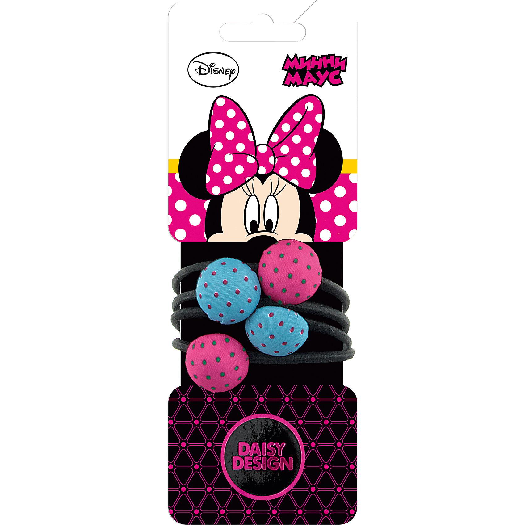 Daisy Design Набор резинок для волос, 4 шт. Минни Маус гардина wisan 9552