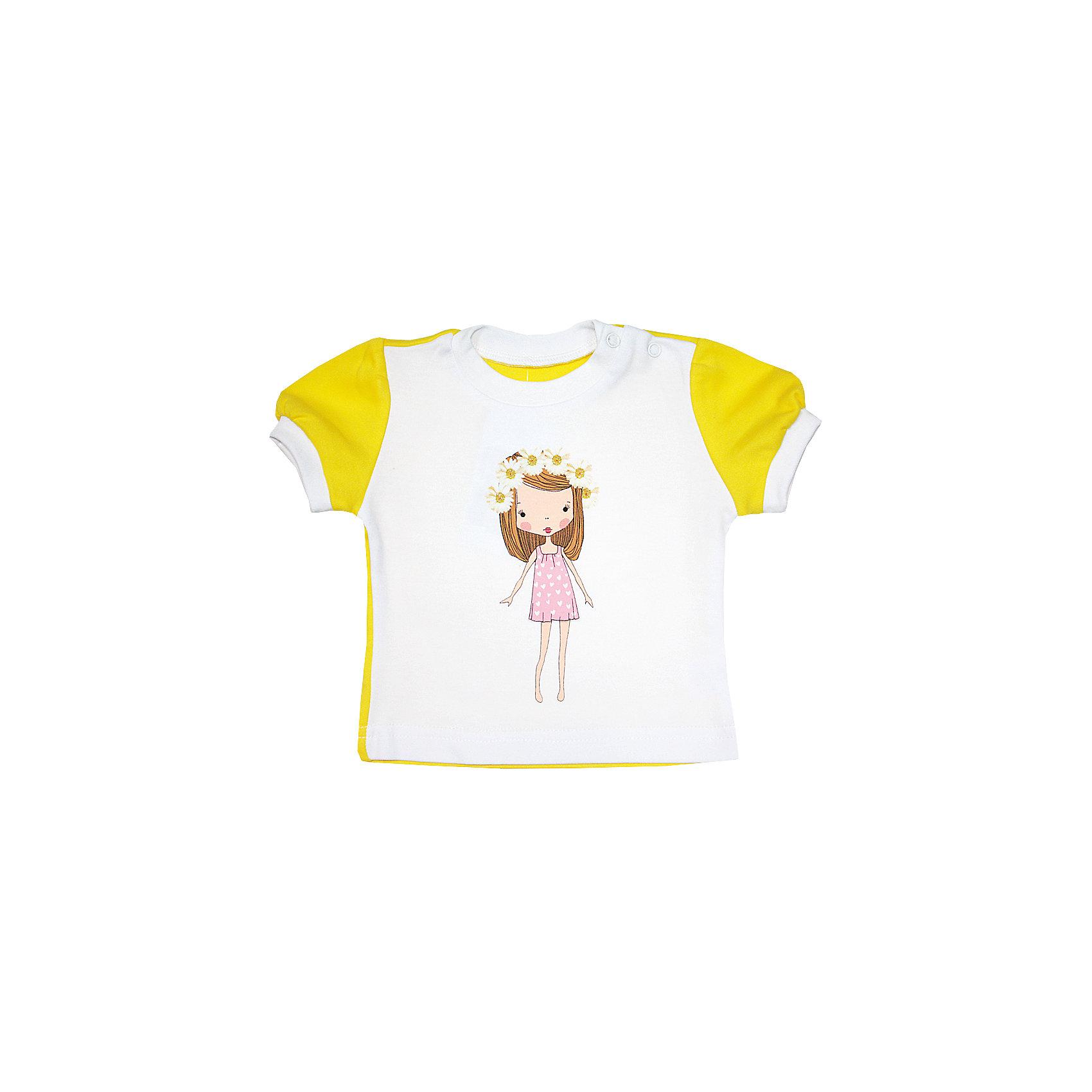 КотМарКот Футболка для девочки КотМарКот котмаркот футболка котмаркот 699033