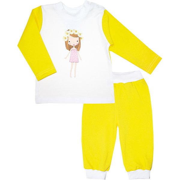 Пижама  для девочки KotMarKotПижамы<br>Пижама для девочки от российской марки KotMarKot.<br>Состав: 100% хлопок (интерлок-пенье)<br><br>Ширина мм: 281<br>Глубина мм: 70<br>Высота мм: 188<br>Вес г: 295<br>Цвет: желтый<br>Возраст от месяцев: 48<br>Возраст до месяцев: 60<br>Пол: Женский<br>Возраст: Детский<br>Размер: 110,92,80,86,98,104<br>SKU: 4624013