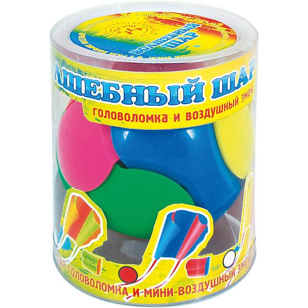 Игрушка Волшебный шар, InSummerВоздушные змеи и вертушки<br>Волшебный шар - уникальная игрушка. Сначала его можно использовать как интересную головоломку, а затем превратить в воздушного змея. С такой игрушкой ребенку никогда не будет скучно!<br><br>Дополнительная информация:<br>Вес: 139 грамм<br>Игрушку Воздушный шар вы можете приобрести в нашем интернет-магазине.<br><br>Ширина мм: 125<br>Глубина мм: 100<br>Высота мм: 100<br>Вес г: 152<br>Возраст от месяцев: 48<br>Возраст до месяцев: 132<br>Пол: Унисекс<br>Возраст: Детский<br>SKU: 4624441