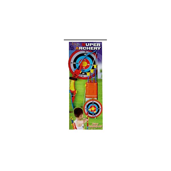 Набор лучника, InSummerИгрушечные арбалеты и луки<br>Набор лучника содержит лук, колчан со стрелами и круговую мишень. Все материалы прочные и абсолютно безвредны для ребенка.  Присоски на стрелах обеспечат безопасность во время игры. Мишень поможет ребенку тренировать меткость, координацию движений и внимательность. Прекрасный вариант для игр на свежем воздухе!<br><br>Дополнительная информация:<br>Материал: пластик<br>Размер: 64 см<br>Вы можете купить набор лучника в нашем интернет-магазине.<br><br>Ширина мм: 650<br>Глубина мм: 245<br>Высота мм: 50<br>Вес г: 186<br>Возраст от месяцев: 72<br>Возраст до месяцев: 156<br>Пол: Унисекс<br>Возраст: Детский<br>SKU: 4624461
