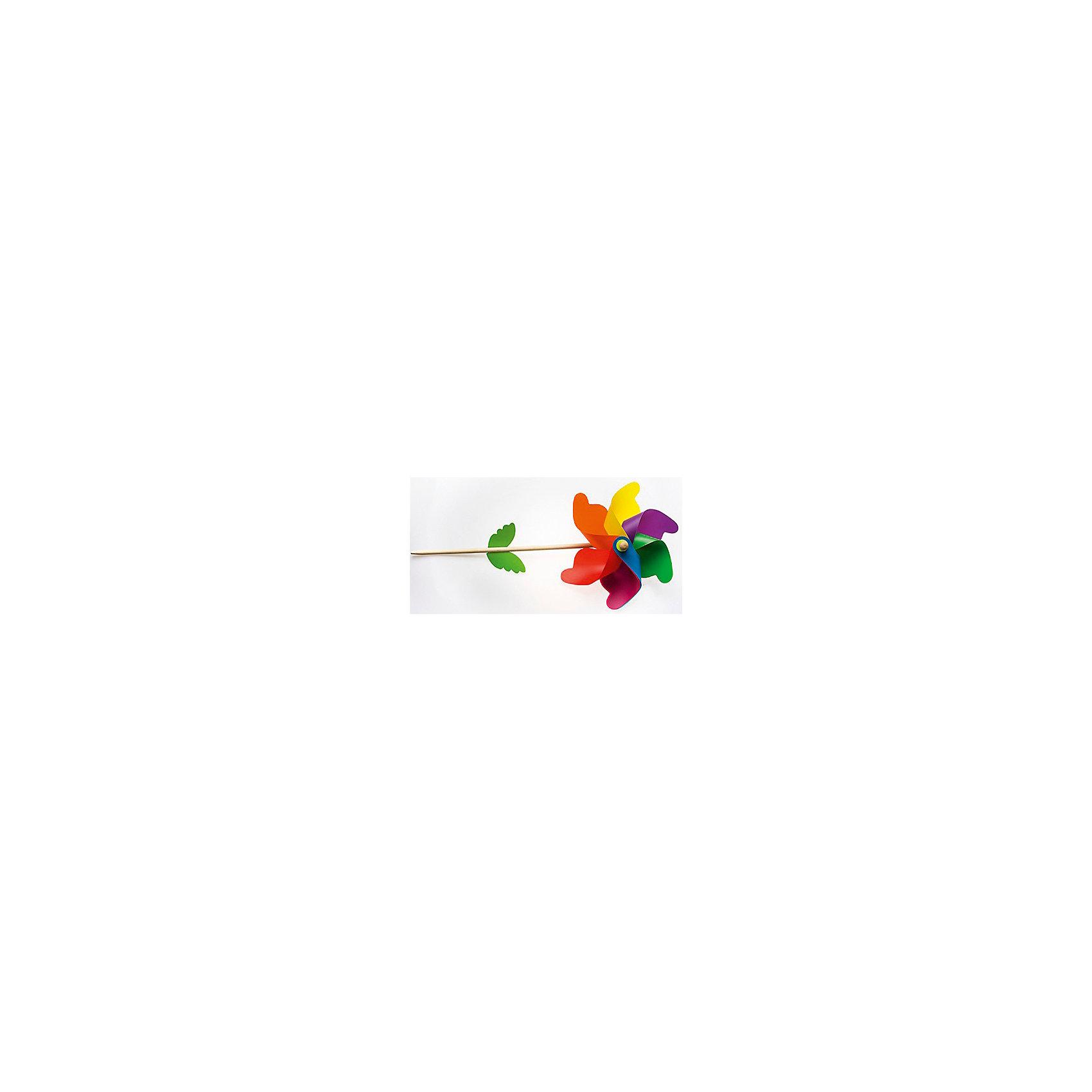 Флюгер Радуга, InSummerФлюгер Радуга, InSummer<br><br>Характеристики:<br><br>- Состав: дерево, пластик  <br>Флюгер Радуга от производителя игр и товаров для детей InSummer (Инсаммер). Этот флюгер напоминает нам цветик семицветик из сказки, у которого лепестки были всех цветов радуги. С таким флюгером будет так приятно и увлекательно наблюдать за тем как он крутится от ветра. Для более интересных фотографий малыша можно взять этот цветной флюгер. Он станет отличным компаньоном на прогулках и поможет развить координацию движений и узнать больше о природных силах, которые существуют. <br>Флюгер Радуга, InSummer (Инсаммер) можно купить в нашем интернет-магазине.<br>Подробнее:<br>• Для детей в возрасте: от 3 до 6 лет <br>• Номер товара: 4624468<br>Страна производитель: Китай<br><br>Ширина мм: 600<br>Глубина мм: 360<br>Высота мм: 270<br>Вес г: 8<br>Возраст от месяцев: 36<br>Возраст до месяцев: 120<br>Пол: Унисекс<br>Возраст: Детский<br>SKU: 4624468