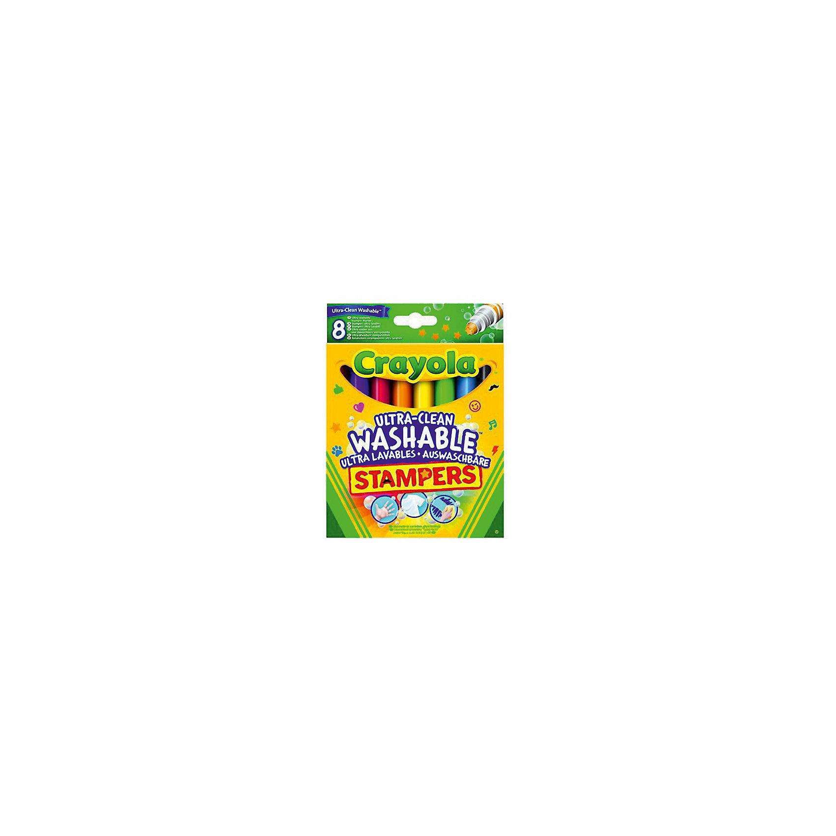 Crayola Набор мини-штампов Животные, 8 шт