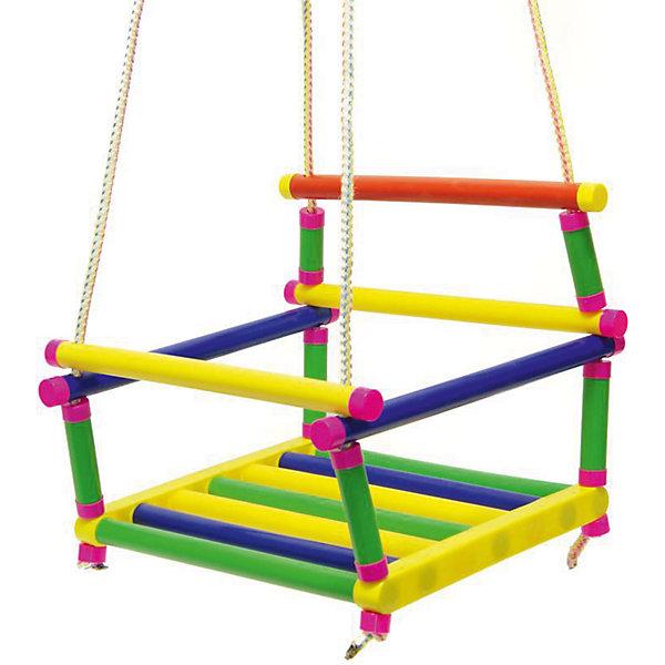 Качели подвесные, Karolina ToysКачели и качалки<br>Подвесные качели, Karolina Toys - прекрасное детское развлечение, которое отлично подойдет для отдыха на природе или на даче. Качели выполнены из набора высококачественных пластиковых трубок, конструкция отличается надежностью и способна выдержать вес шестилетнего ребенка. Сиденье в форме маленького кресла со спинкой и подлокотниками обеспечивает комфорт во время катания. Передняя планка поднимается и опускается, что позволяет удобнее усадить ребенка и не бояться, что он упадет. Качели имеют яркий привлекательный дизайн и легко закрепляются с помощью четырех веревок (входят в комплект).<br><br>Дополнительная информация:<br><br>- В комплекте: качели, 4 веревки.<br>- Материал: пластик, текстиль.<br>- Размер качелей: 34 х 29 х 30 см.<br>- Размер упаковки: 34 х 29 х 8 см.<br>- Вес: 0,5 кг.<br> <br>Качели подвесные, Karolina Toys, можно купить в нашем интернет-магазине.<br><br>Ширина мм: 340<br>Глубина мм: 300<br>Высота мм: 290<br>Вес г: 560<br>Возраст от месяцев: 24<br>Возраст до месяцев: 180<br>Пол: Унисекс<br>Возраст: Детский<br>SKU: 4627926
