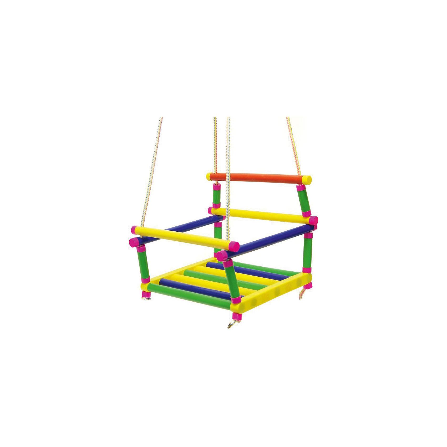 Качели подвесные, Karolina ToysПодвесные качели, Karolina Toys - прекрасное детское развлечение, которое отлично подойдет для отдыха на природе или на даче. Качели выполнены из набора высококачественных пластиковых трубок, конструкция отличается надежностью и способна выдержать вес шестилетнего ребенка. Сиденье в форме маленького кресла со спинкой и подлокотниками обеспечивает комфорт во время катания. Передняя планка поднимается и опускается, что позволяет удобнее усадить ребенка и не бояться, что он упадет. Качели имеют яркий привлекательный дизайн и легко закрепляются с помощью четырех веревок (входят в комплект).<br><br>Дополнительная информация:<br><br>- В комплекте: качели, 4 веревки.<br>- Материал: пластик, текстиль.<br>- Размер качелей: 34 х 29 х 30 см.<br>- Размер упаковки: 34 х 29 х 8 см.<br>- Вес: 0,5 кг.<br> <br>Качели подвесные, Karolina Toys, можно купить в нашем интернет-магазине.<br><br>Ширина мм: 340<br>Глубина мм: 300<br>Высота мм: 290<br>Вес г: 560<br>Возраст от месяцев: 24<br>Возраст до месяцев: 180<br>Пол: Унисекс<br>Возраст: Детский<br>SKU: 4627926
