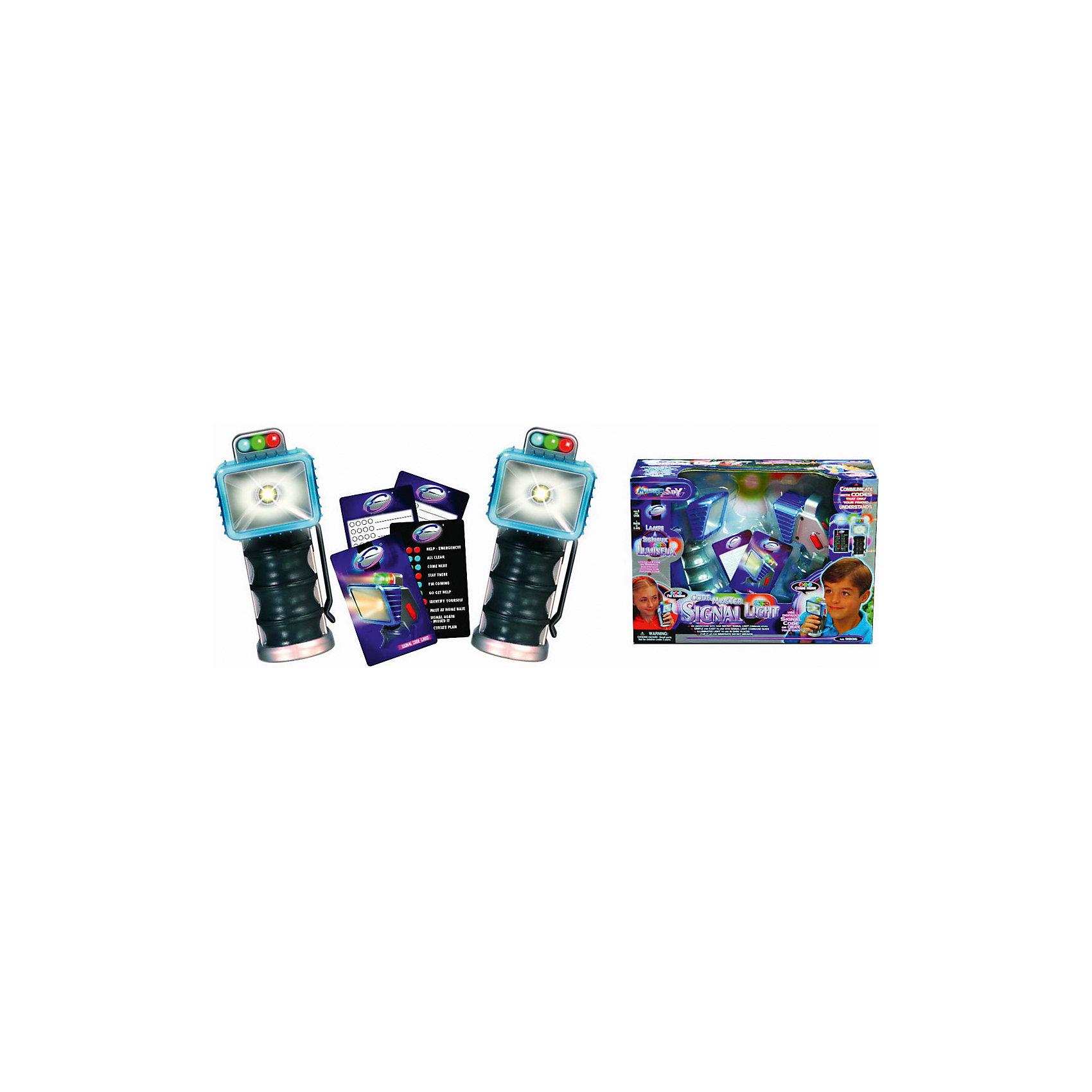 Сигнальные лампы, EastcolightНаборы шпиона<br>Сигнальные лампы, Eastcolight - оригинальный подарок, который обязательно порадует все юных любителей игр в суперагентов и секретные миссии. Сигнальные лампы предназначены для передачи сообщений на расстояние посредством света. В комплект входят два сигнальных фонаря с кнопками и карточки для кодов. Чтобы передать секретное сообщение нужно нажать кнопки в определенной последовательности. Во время игры Вы можете использовать стандартные коды или придумать свои. Трехцветные лампы позволяют разнообразить комбинации кодов. С помощью сигналов маленький разведчик может передать информацию о приближающейся опасности, результатах разведки или для поиска нужных объектов. Игрушка развивает внимательность, воображение, логическое мышление, реакцию, память и зрительное восприятие.<br><br>Дополнительная информация:<br><br>- В комплекте: 2 сигнальные лампы с кнопками, карточки кодов, подробная инструкция.<br>- Материал: пластик, стекло.<br>- Требуются батарейки: 8 х ААА (в комплект не входят).<br>- Размер упаковки: 22,5 х 18 х 9,8 см.<br><br>Сигнальные лампы, Eastcolight, можно купить в нашем интернет-магазине.<br><br>Ширина мм: 305<br>Глубина мм: 216<br>Высота мм: 102<br>Вес г: 630<br>Возраст от месяцев: 60<br>Возраст до месяцев: 180<br>Пол: Унисекс<br>Возраст: Детский<br>SKU: 4627935
