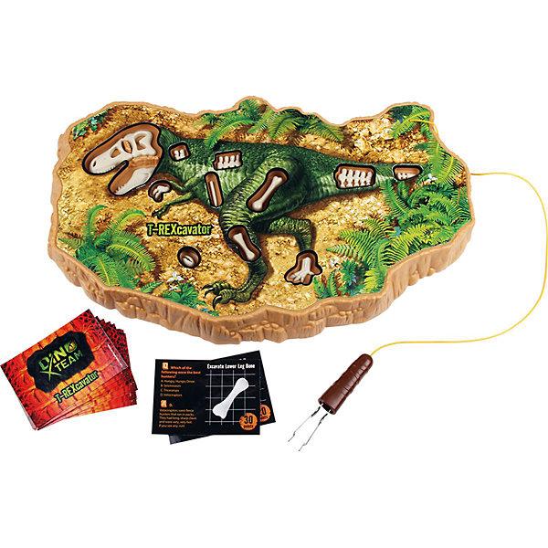 Игра Конструктор Динопедия T-Rex, Uncle MiltonИгры мемо<br>Игра Конструктор Динопедия T-Rex, Uncle Milton, вызовет восторг у всех юных любителей динозавров. Увлекательный набор поможет Вам попробовать себя в роли палеонтолога научной экспедиции, отправившейся на поиски древних останков. Аккуратно выкопайте кости динозавра из реальных глинистых пород, используя специальный прибор. Затем соберите найденные кости и выложите их на игровом поле, таким образом, чтобы получился целый скелет древнего ящера. В комплект также входят карточки с вопросами для веселой викторины, где дети смогут проверить свои знания о динозаврах. Игра способствует развитию мышления, фантазии и внимательности, расширяет кругозор, тренирует мелкую моторику.<br><br>Дополнительная информация:<br> <br>- В комплекте: игровое поле с углублениями для скелета, игрушечные кости динозавра, карточки с вопросами викторины, инструкция.<br>- Материал: пластик, металл. <br>- Требуются батарейки: 2 х AA.<br>- Размер упаковки: 40,6 х 4 х 25 см. <br>- Вес: 0,47 кг.<br><br>Игру Конструктор Динопедия T-Rex, Uncle Milton, можно купить в нашем интернет-магазине.<br>Ширина мм: 406; Глубина мм: 250; Высота мм: 40; Вес г: 470; Возраст от месяцев: 60; Возраст до месяцев: 180; Пол: Унисекс; Возраст: Детский; SKU: 4627941;