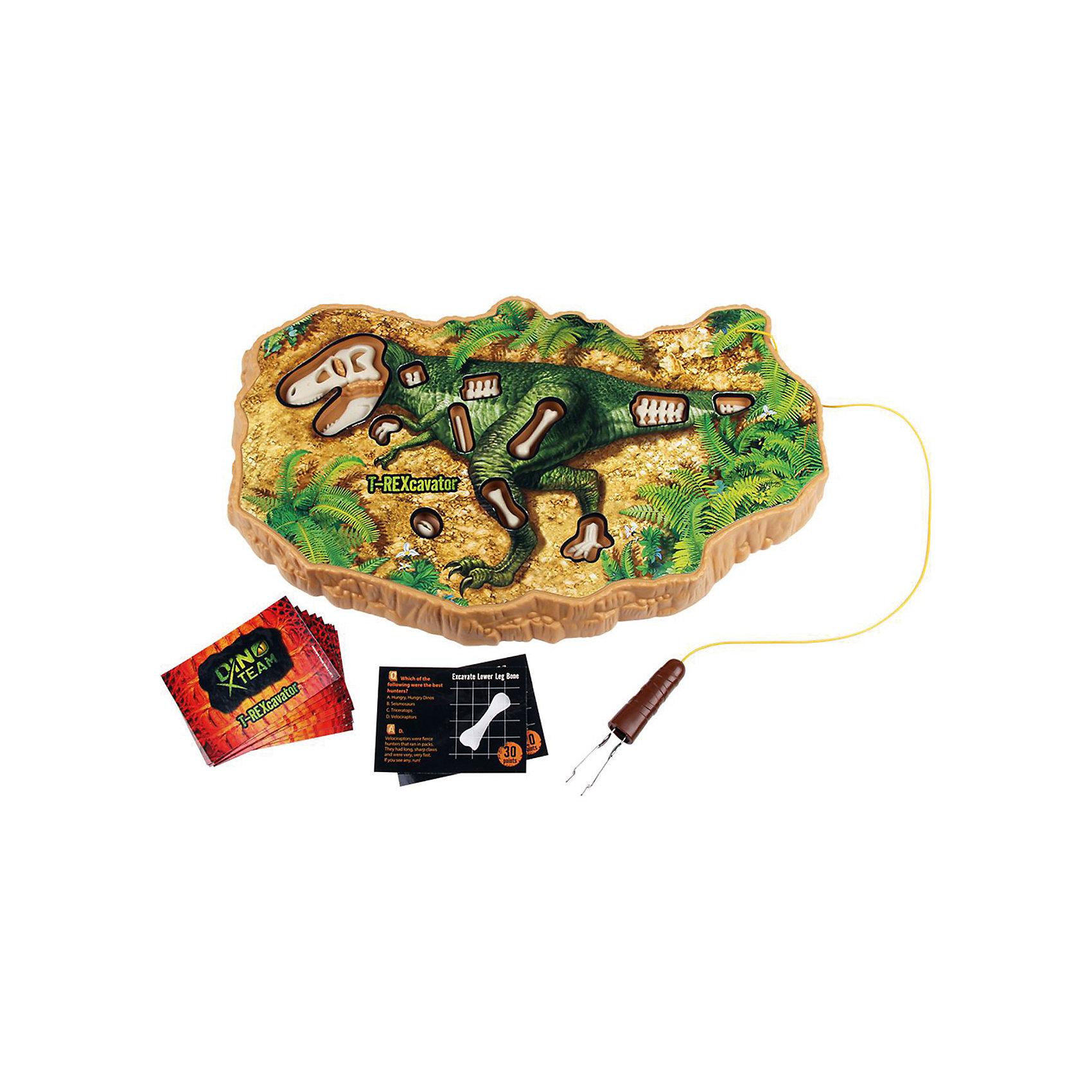 Игра Конструктор Динопедия T-Rex, Uncle MiltonИгры мемо<br>Игра Конструктор Динопедия T-Rex, Uncle Milton, вызовет восторг у всех юных любителей динозавров. Увлекательный набор поможет Вам попробовать себя в роли палеонтолога научной экспедиции, отправившейся на поиски древних останков. Аккуратно выкопайте кости динозавра из реальных глинистых пород, используя специальный прибор. Затем соберите найденные кости и выложите их на игровом поле, таким образом, чтобы получился целый скелет древнего ящера. В комплект также входят карточки с вопросами для веселой викторины, где дети смогут проверить свои знания о динозаврах. Игра способствует развитию мышления, фантазии и внимательности, расширяет кругозор, тренирует мелкую моторику.<br><br>Дополнительная информация:<br> <br>- В комплекте: игровое поле с углублениями для скелета, игрушечные кости динозавра, карточки с вопросами викторины, инструкция.<br>- Материал: пластик, металл. <br>- Требуются батарейки: 2 х AA.<br>- Размер упаковки: 40,6 х 4 х 25 см. <br>- Вес: 0,47 кг.<br><br>Игру Конструктор Динопедия T-Rex, Uncle Milton, можно купить в нашем интернет-магазине.<br><br>Ширина мм: 406<br>Глубина мм: 250<br>Высота мм: 40<br>Вес г: 470<br>Возраст от месяцев: 60<br>Возраст до месяцев: 180<br>Пол: Унисекс<br>Возраст: Детский<br>SKU: 4627941
