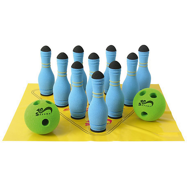 Игра Мини-Боулинг, 10 кеглей, SafsofИгровые наборы<br>Игра Мини-Боулинг, 10 кеглей, Safsof, прекрасный вариант для подвижных активных игр на открытом воздухе или в помещении. В комплект входят кегли голубой расцветки и шар с выемками-отверстиями для удобного захвата. Цель игры - сбить шаром максимальное количество кеглей. Можно играть как в одиночку, так и в компании друзей или родителей. Набор упакован в прозрачную сумку на молнии. Игра в боулинг развивает ловкость, меткость и координацию движений, а также помогает в укреплении общефизического состояния. <br><br>Дополнительная информация:<br><br>- В комплекте: кегли - 10 шт., шар - 1 шт.<br>- Материал: вспененная резина. <br>- Длина кегли: 17 см.<br>- Размер упаковки: 22 х 21 х 10 см.<br>- Вес: 0,53 кг.<br> <br>Игру Мини-Боулинг, 10 кеглей, Safsof, можно купить в нашем интернет-магазине.<br>Ширина мм: 300; Глубина мм: 100; Высота мм: 190; Вес г: 710; Возраст от месяцев: 36; Возраст до месяцев: 120; Пол: Унисекс; Возраст: Детский; SKU: 4627942;
