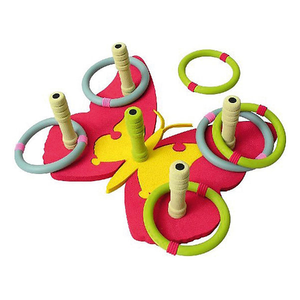 Кольцеброс Бабочка, SafsofКольцебросы<br>Кольцеброс Бабочка, Safsof - прекрасный вариант для подвижных активных игр в помещении или на открытом воздухе. В комплект входят кольцеброс в виде яркой красочной бабочки с 5 колышками и 6 разноцветных колец. Колышки имеют закруглённые безопасные концы. Цель игры - насадить на колышки как можно больше колечек. Набор выполнен из качественных экологичных материалов, легко чистится и моется. Развивает координацию и моторику движений, меткость, ловкость и внимательность.<br><br>Дополнительная информация:<br><br>- В комплекте: кольцеброс-бабочка с 5 колышками, 6 колец.<br>- Материал: пенорезина. <br>- Диаметр кольца: 12 см.<br>- Размер упаковки: 35 х 42 х 4 см.<br>- Вес: 0,3 кг.<br> <br>Кольцеброс Бабочка, Safsof, можно купить в нашем интернет-магазине.<br><br>Ширина мм: 350<br>Глубина мм: 370<br>Высота мм: 50<br>Вес г: 140<br>Возраст от месяцев: 36<br>Возраст до месяцев: 144<br>Пол: Унисекс<br>Возраст: Детский<br>SKU: 4627943