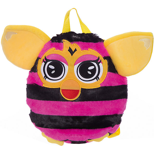 Furby рюкзак 35 см, в полоску, 1ToyДетские рюкзаки<br>Чудесный плюшевый рюкзачок Furby никого не оставит равнодушным. Он замечательно подойдет для прогулок, поездок и путешествий, а также в качестве забавной мягкой игрушки. Рюкзак выполнен в виде очаровательного Ферби и его внешний вид абсолютно идентичен популярной интерактивной игрушке. У Ферби яркая расцветка в розовую и черную полосочку, желтые ушки и лапки. Качественный плюшевый материал рюкзачка очень мягкий и приятный на ощупь. Внутри одно вместительное отделение, куда ребенок сможет положить все необходимые на прогулке вещи. Рюкзак оснащен удобной текстильной ручкой для переноски в руках.<br><br>Дополнительная информация:<br><br>- Материал: плюш (хентег).  <br>- Длина рюкзака: 35 см.<br>- Общие размеры: 35 х 28 х 3 см.<br>- Вес: 181 гр.<br><br>Furby рюкзак 35 см., в полоску, 1Toy, можно купить в нашем интернет-магазине.<br><br>Ширина мм: 350<br>Глубина мм: 280<br>Высота мм: 30<br>Вес г: 181<br>Возраст от месяцев: 24<br>Возраст до месяцев: 60<br>Пол: Унисекс<br>Возраст: Детский<br>SKU: 4627948