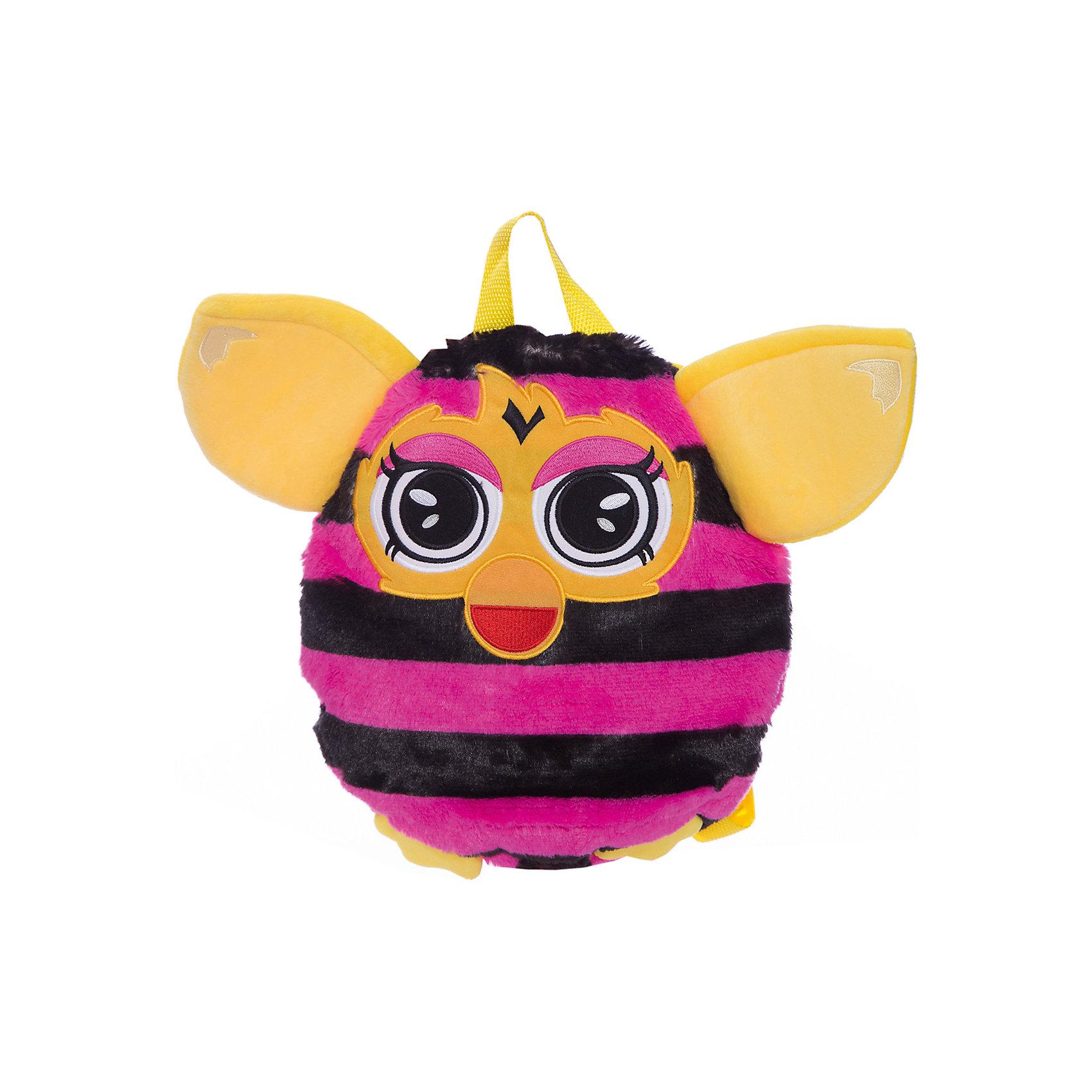 Furby рюкзак 35 см, в полоску, 1ToyЧудесный плюшевый рюкзачок Furby никого не оставит равнодушным. Он замечательно подойдет для прогулок, поездок и путешествий, а также в качестве забавной мягкой игрушки. Рюкзак выполнен в виде очаровательного Ферби и его внешний вид абсолютно идентичен популярной интерактивной игрушке. У Ферби яркая расцветка в розовую и черную полосочку, желтые ушки и лапки. Качественный плюшевый материал рюкзачка очень мягкий и приятный на ощупь. Внутри одно вместительное отделение, куда ребенок сможет положить все необходимые на прогулке вещи. Рюкзак оснащен удобной текстильной ручкой для переноски в руках.<br><br>Дополнительная информация:<br><br>- Материал: плюш (хентег).  <br>- Длина рюкзака: 35 см.<br>- Общие размеры: 35 х 28 х 3 см.<br>- Вес: 181 гр.<br><br>Furby рюкзак 35 см., в полоску, 1Toy, можно купить в нашем интернет-магазине.<br><br>Ширина мм: 350<br>Глубина мм: 280<br>Высота мм: 30<br>Вес г: 181<br>Возраст от месяцев: 24<br>Возраст до месяцев: 60<br>Пол: Унисекс<br>Возраст: Детский<br>SKU: 4627948