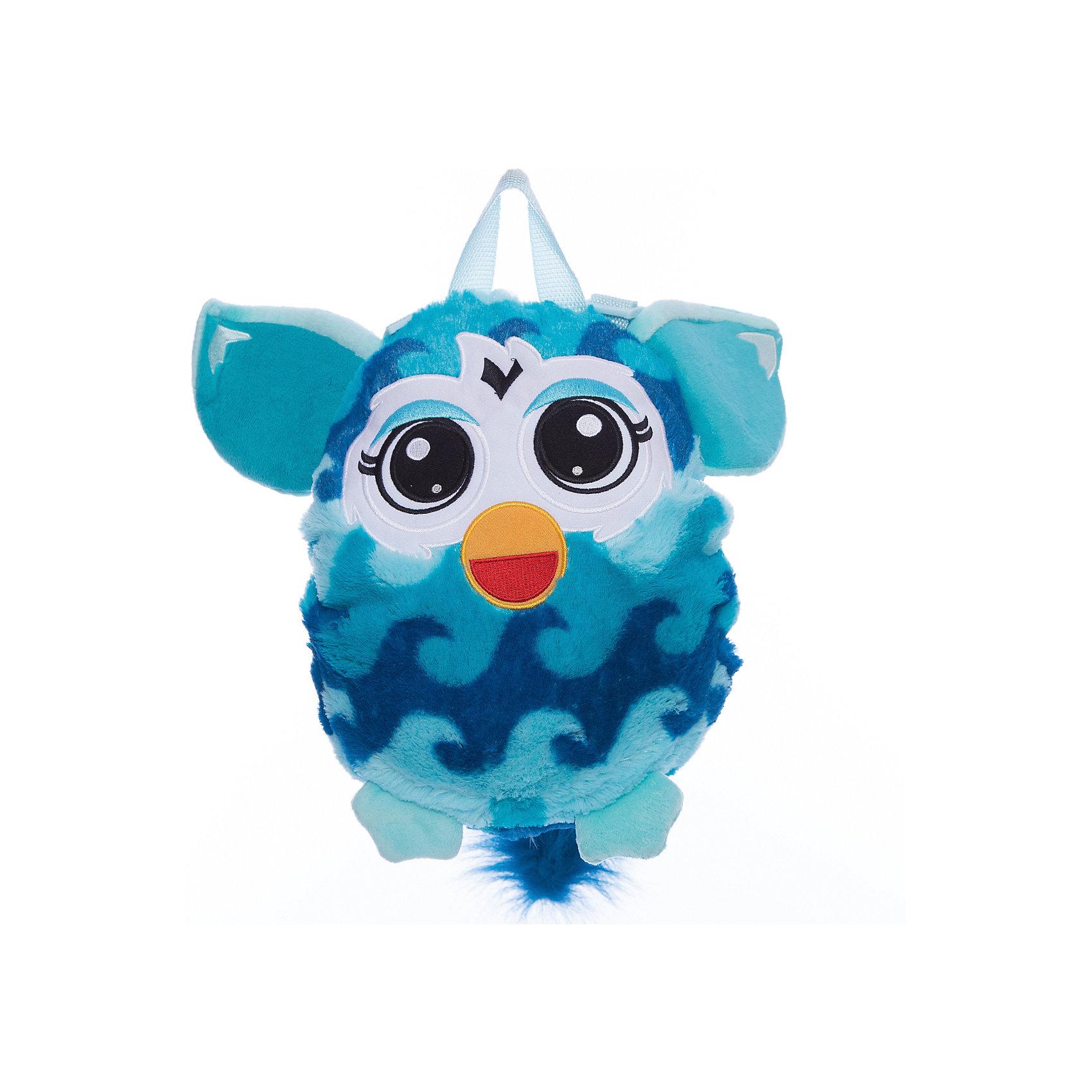 Furby рюкзак 35 см, волна, 1ToyЧудесный плюшевый рюкзачок Furby никого не оставит равнодушным. Он замечательно подойдет для прогулок, поездок и путешествий, а также в качестве забавной мягкой игрушки. Рюкзак выполнен в виде очаровательного Ферби и его внешний вид абсолютно идентичен популярной интерактивной игрушке. У Ферби яркая сине-голубая расцветка с узором в виде волны, бирюзовые ушки и лапки. Качественный плюшевый материал рюкзачка очень мягкий и приятный на ощупь. Внутри одно вместительное отделение, куда ребенок сможет положить все необходимые на прогулке вещи. Рюкзак оснащен удобной текстильной ручкой для переноски в руках. <br><br>Дополнительная информация:<br><br>- Материал: плюш (хентег).  <br>- Длина рюкзака: 35 см.<br>- Общие размеры: 35 х 28 х 3 см.<br>- Вес: 181 гр.<br><br>Furby рюкзак 35 см., волна, 1Toy, можно купить в нашем интернет-магазине.<br><br>Ширина мм: 350<br>Глубина мм: 280<br>Высота мм: 30<br>Вес г: 181<br>Возраст от месяцев: 24<br>Возраст до месяцев: 60<br>Пол: Унисекс<br>Возраст: Детский<br>SKU: 4627949
