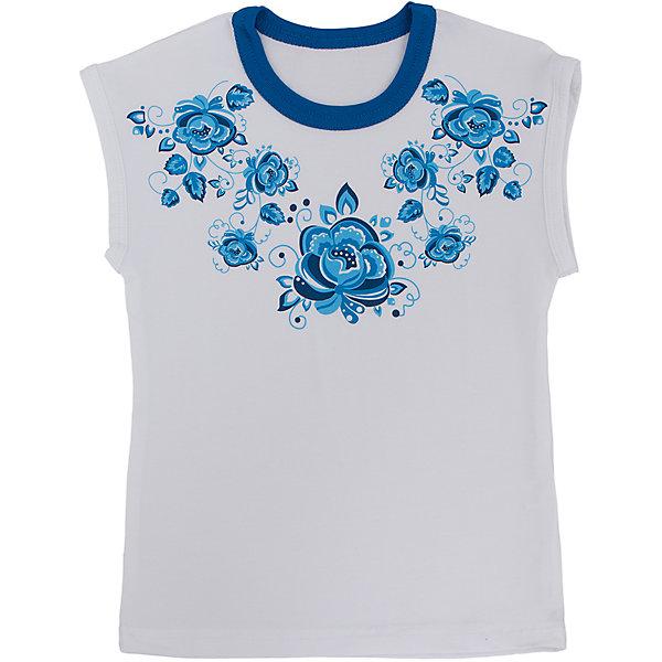 Футболка для девочки АпрельФутболки, поло и топы<br>Красивая футболка из мягкого хлопка. Приятная на ощупь, не сковывает движения, обеспечивая наибольший комфорт. Изделие без рукавов, с контрастной горловиной, украшено дизайнерским цветочным принтом. Отличный вариант для ежедневного использования! Состав: 92% хлопок, 8% лайкра<br><br>Ширина мм: 190<br>Глубина мм: 74<br>Высота мм: 229<br>Вес г: 236<br>Цвет: белый<br>Возраст от месяцев: 36<br>Возраст до месяцев: 48<br>Пол: Женский<br>Возраст: Детский<br>Размер: 104,92,98,116,110,122,128<br>SKU: 4630438